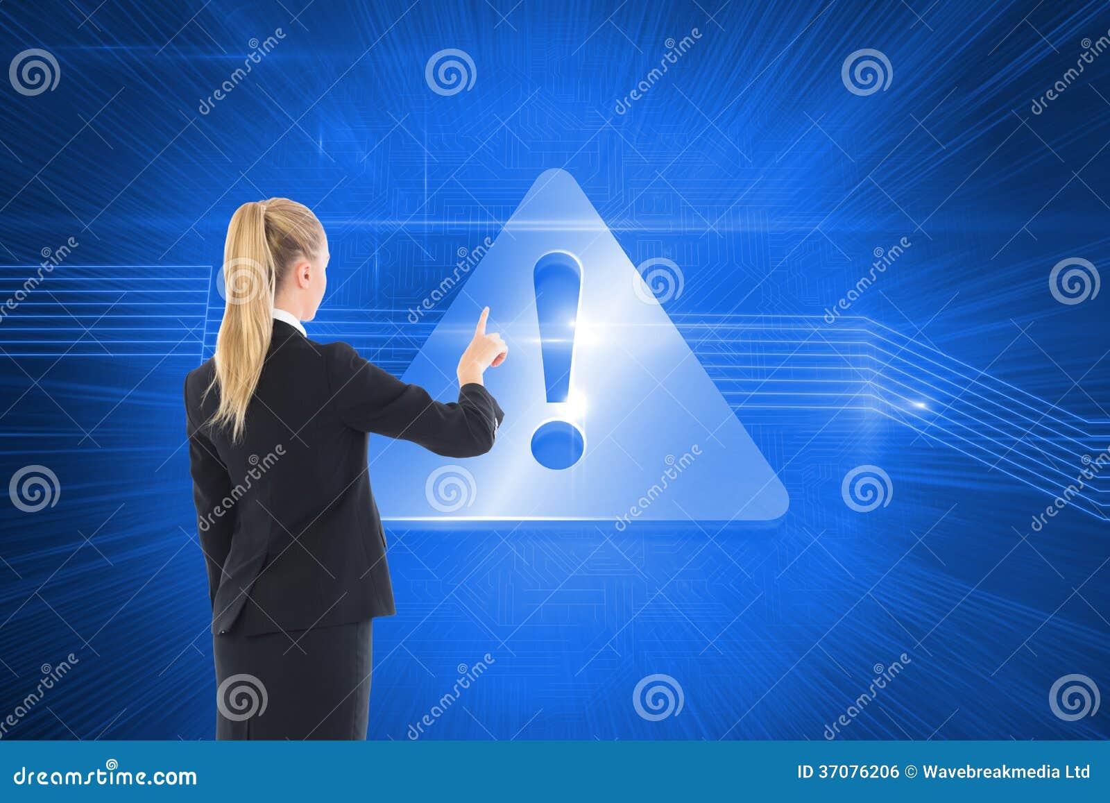 Download Bizneswoman Wskazuje Gdzieś Zdjęcie Stock - Obraz złożonej z digitise, okrzyk: 37076206