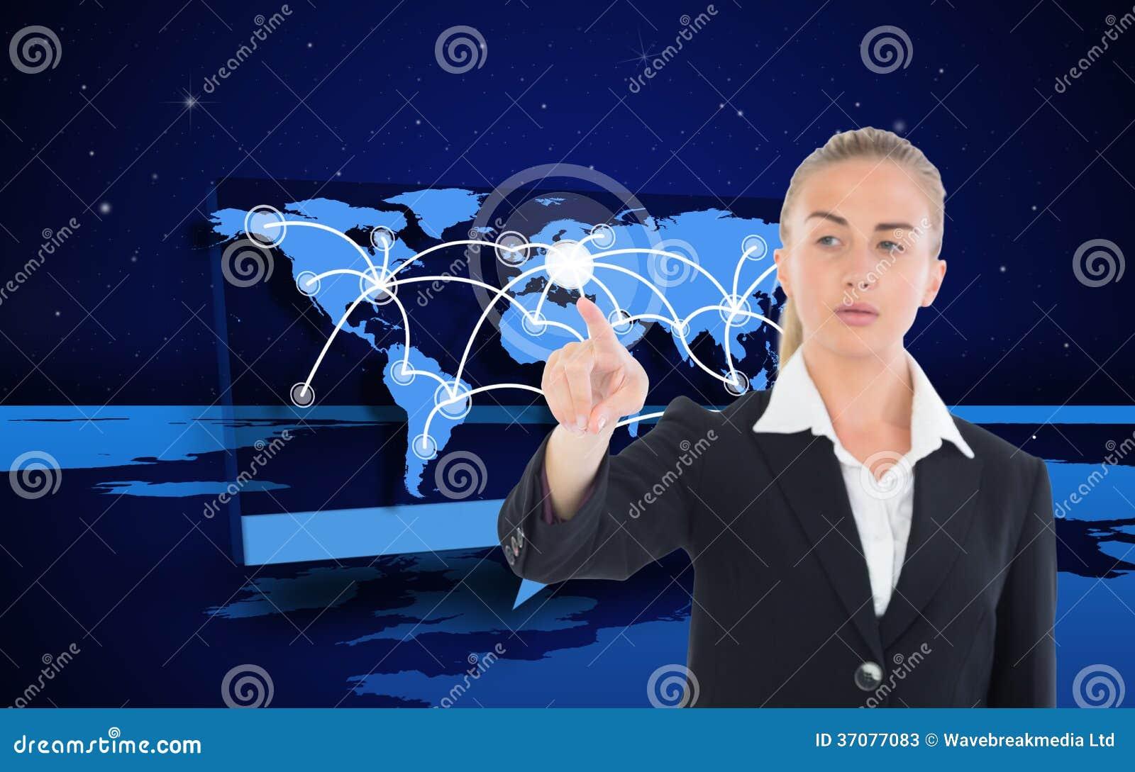 Download Bizneswoman Wskazuje Gdzieś Obraz Stock - Obraz złożonej z kobiety, gwiazdy: 37077083