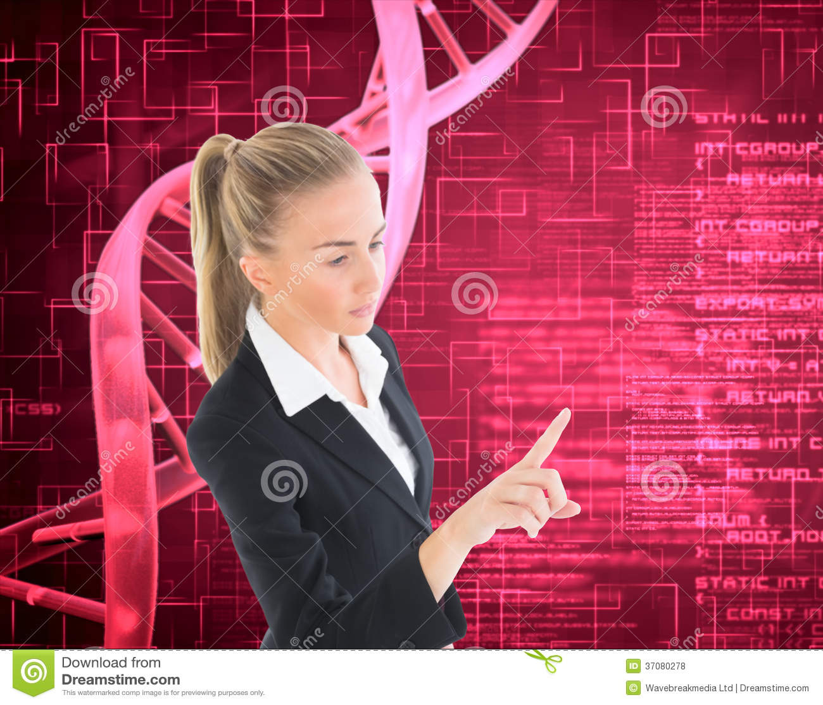 Download Bizneswoman Wskazuje Gdzieś Zdjęcie Stock - Obraz złożonej z nauka, dane: 37080278