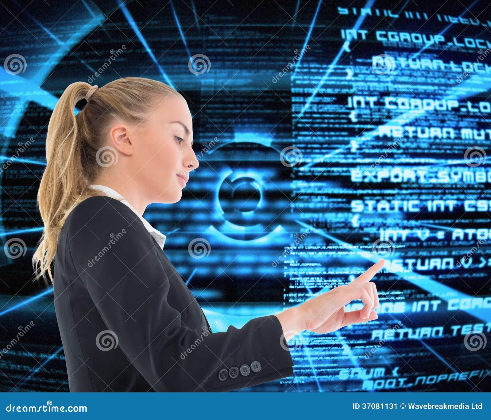 Download Bizneswoman Wskazuje Gdzieś Obraz Stock - Obraz złożonej z bizneswoman, wiadomość: 37081131