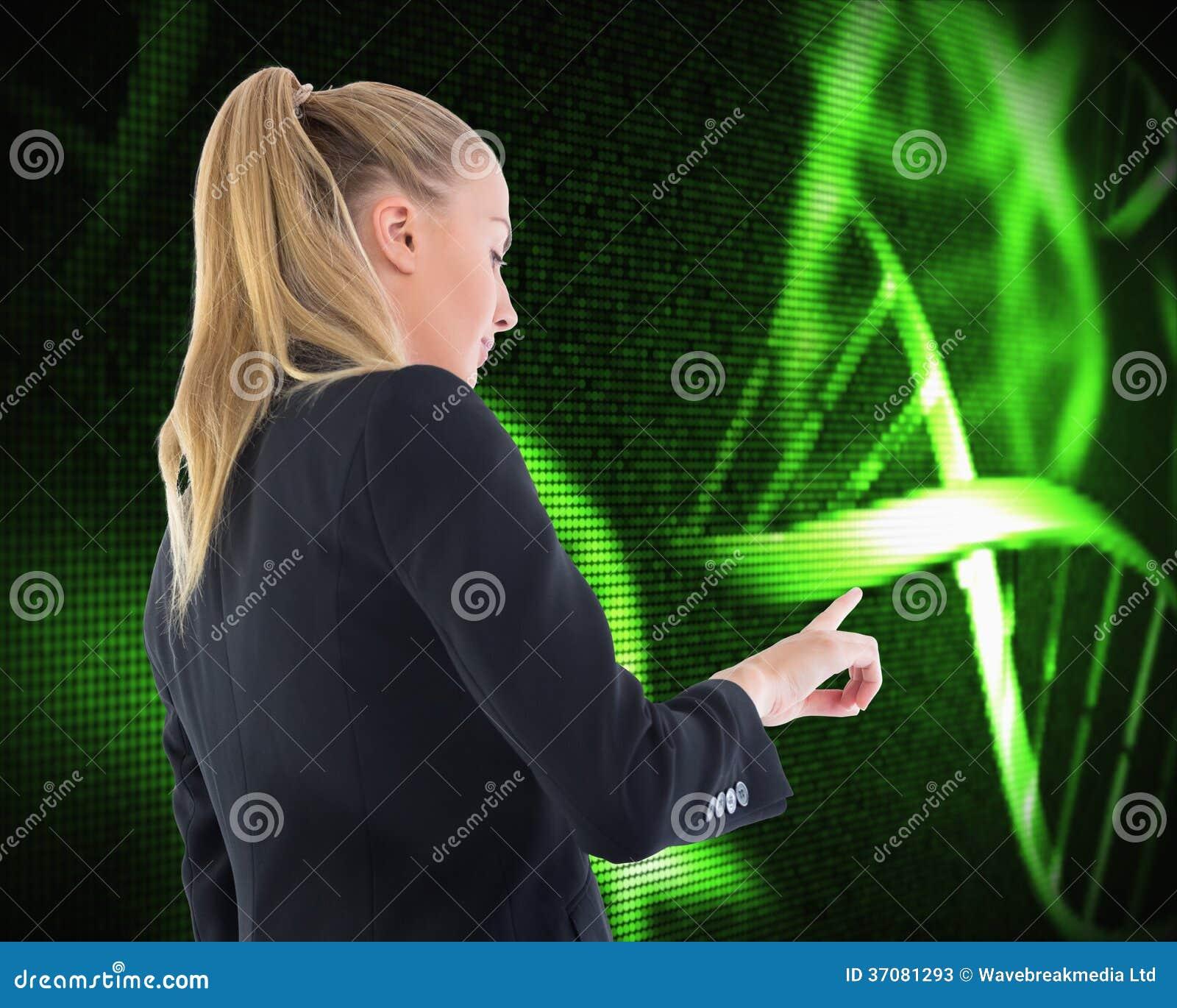 Download Bizneswoman Wskazuje Gdzieś Obraz Stock - Obraz złożonej z geneva, chromosom: 37081293