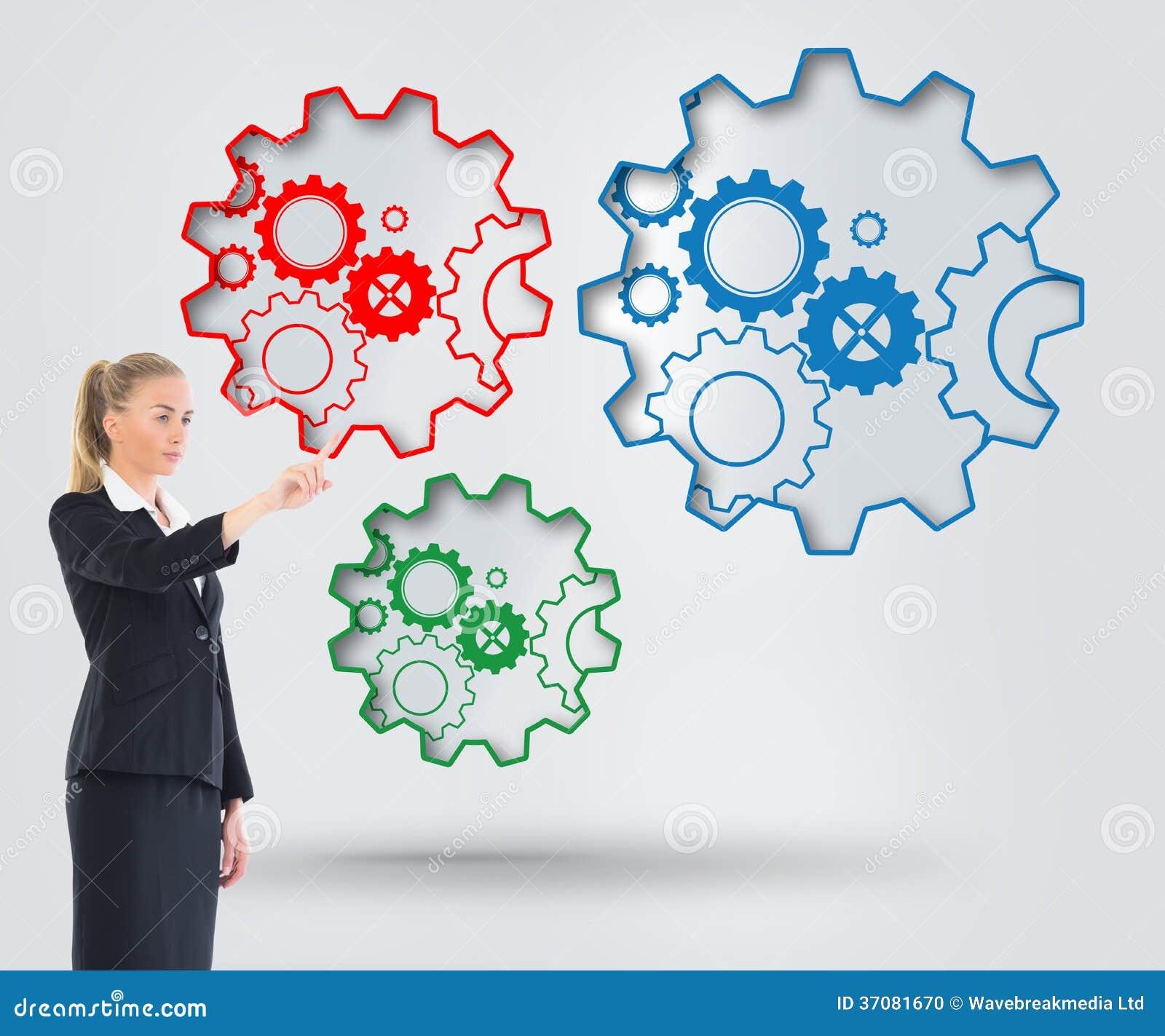 Download Bizneswoman Wskazuje Gdzieś Zdjęcie Stock - Obraz złożonej z bizneswoman, elegancki: 37081670