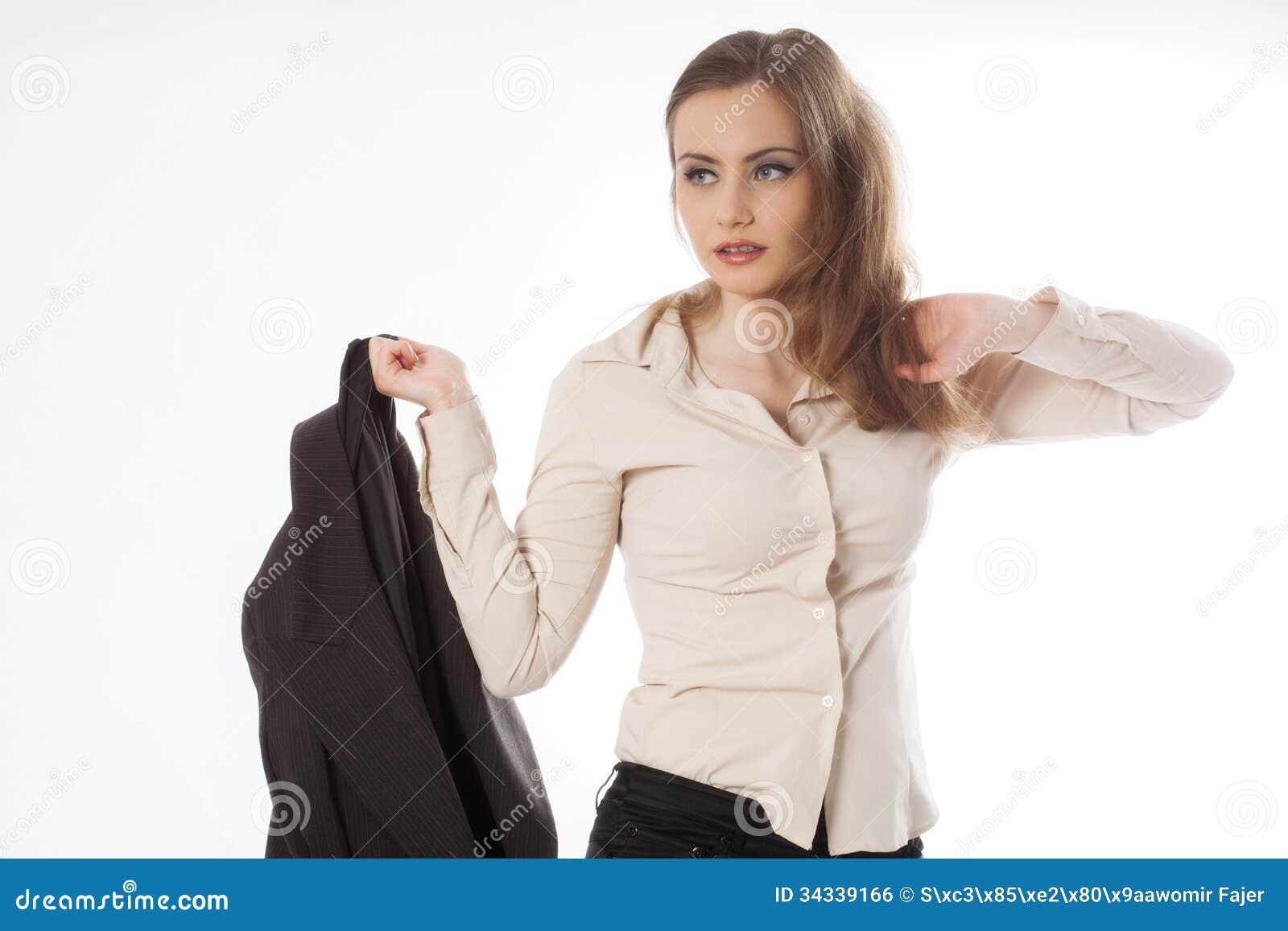 Bizneswomanu mienia kurtka