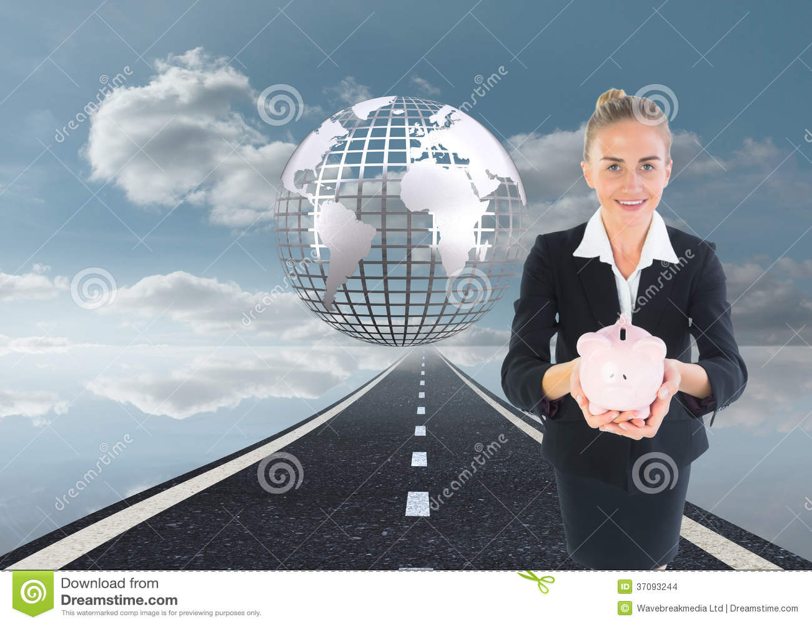 Download Bizneswomanu Mienia Menchii Prosiątka Bank Zdjęcie Stock - Obraz złożonej z chmury, wytwarza: 37093244