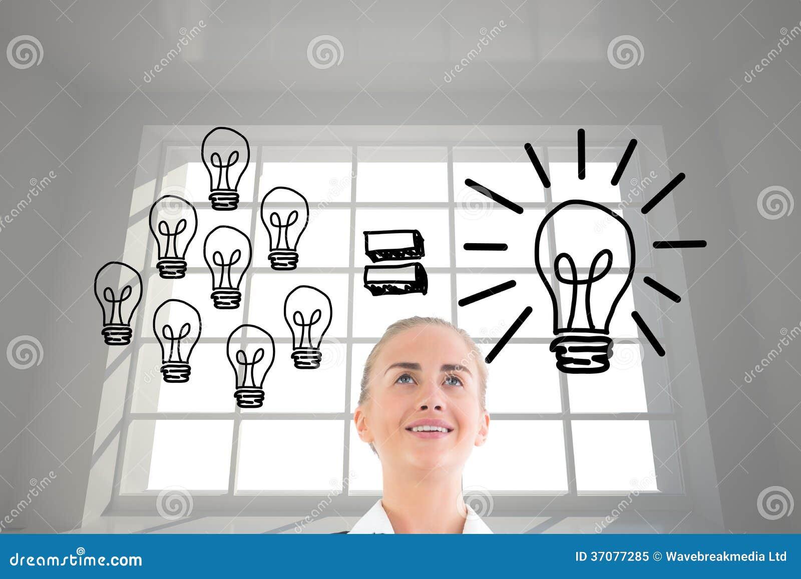 Download Bizneswomanu Mienia Pastylka Obraz Stock - Obraz złożonej z jeden, pomysł: 37077285