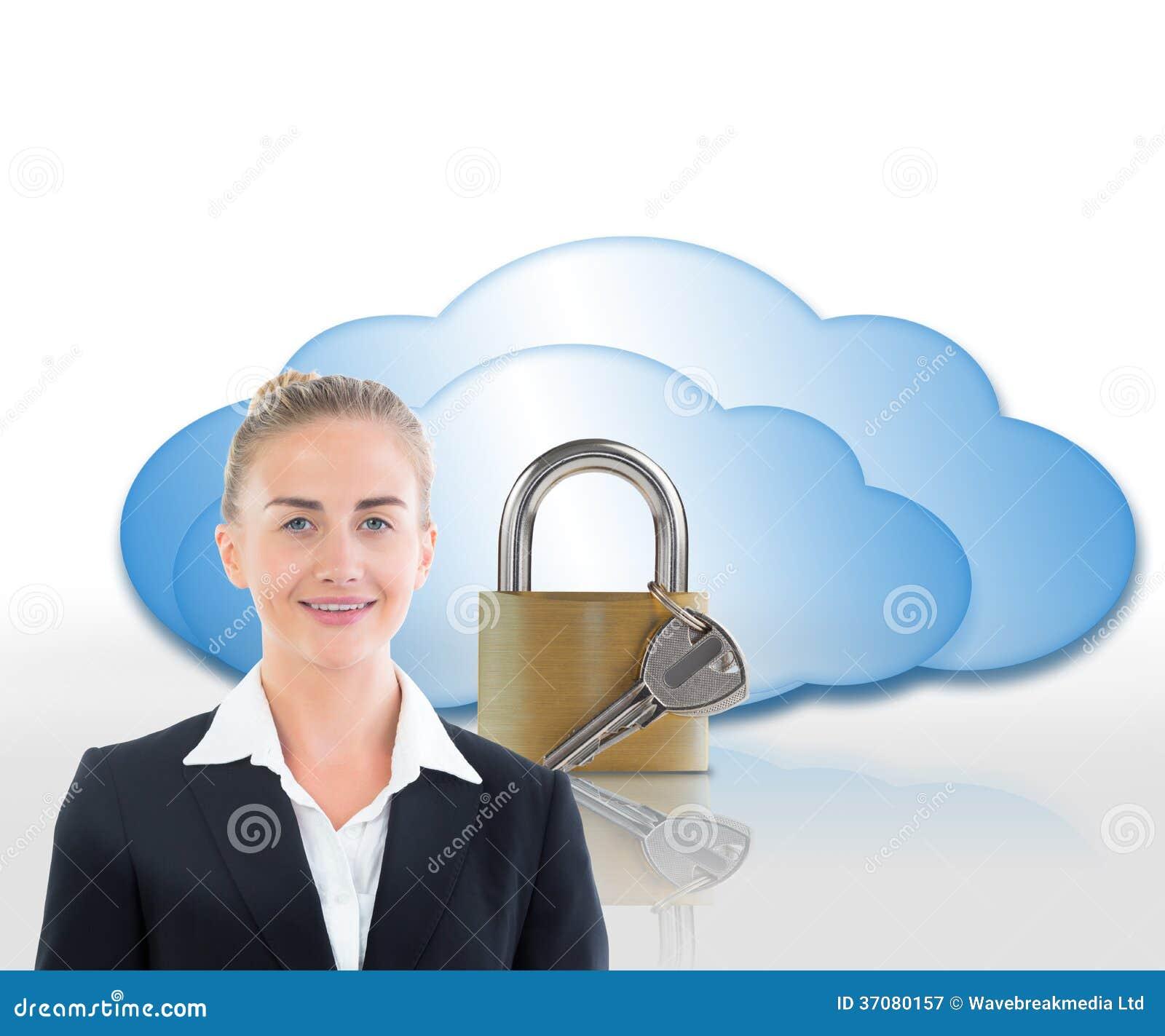 Download Bizneswomanu Mienia Pastylka Obraz Stock - Obraz złożonej z symbol, błękitny: 37080157