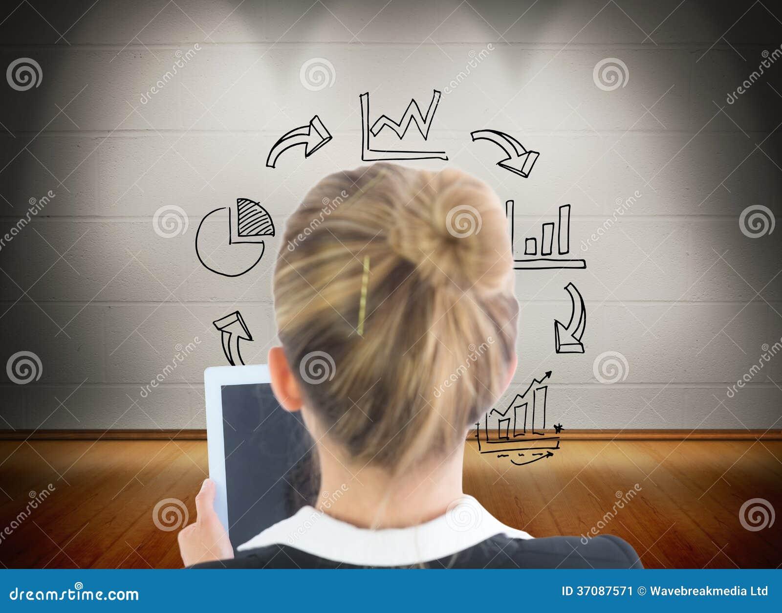 Download Bizneswomanu Mienia Pastylka Obraz Stock - Obraz złożonej z pokój, bizneswoman: 37087571