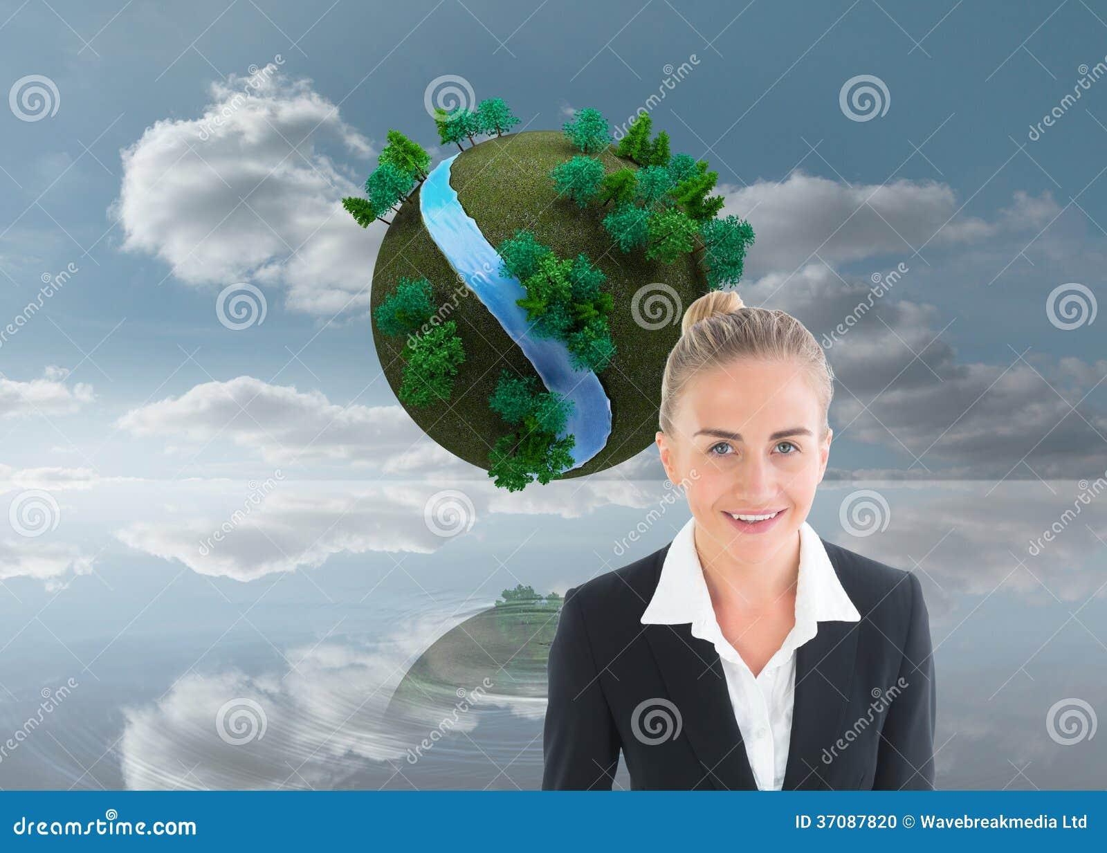 Download Bizneswomanu Mienia Pastylka Zdjęcie Stock - Obraz złożonej z rzeka, tekstura: 37087820