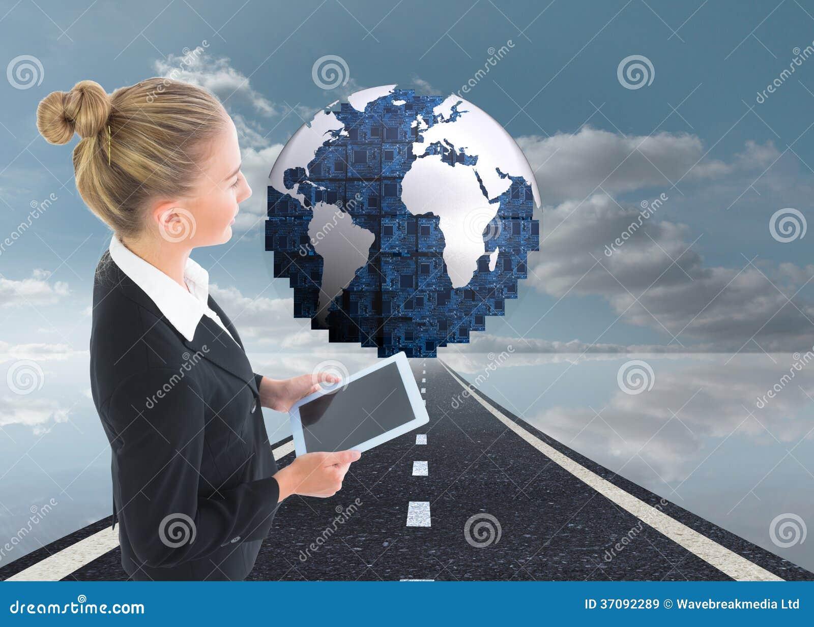 Download Bizneswomanu Mienia Pastylka Obraz Stock - Obraz złożonej z jeden, bizneswoman: 37092289