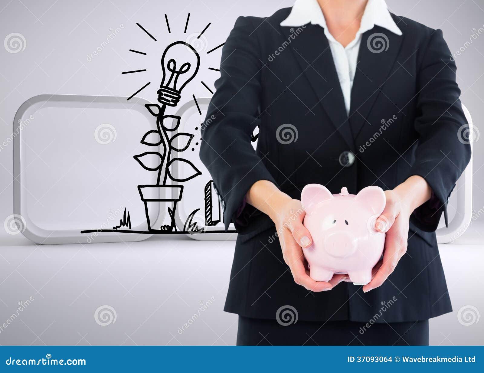 Download Bizneswomanu Mienia Prosiątka Bank Zdjęcie Stock - Obraz złożonej z światło, digitalis: 37093064
