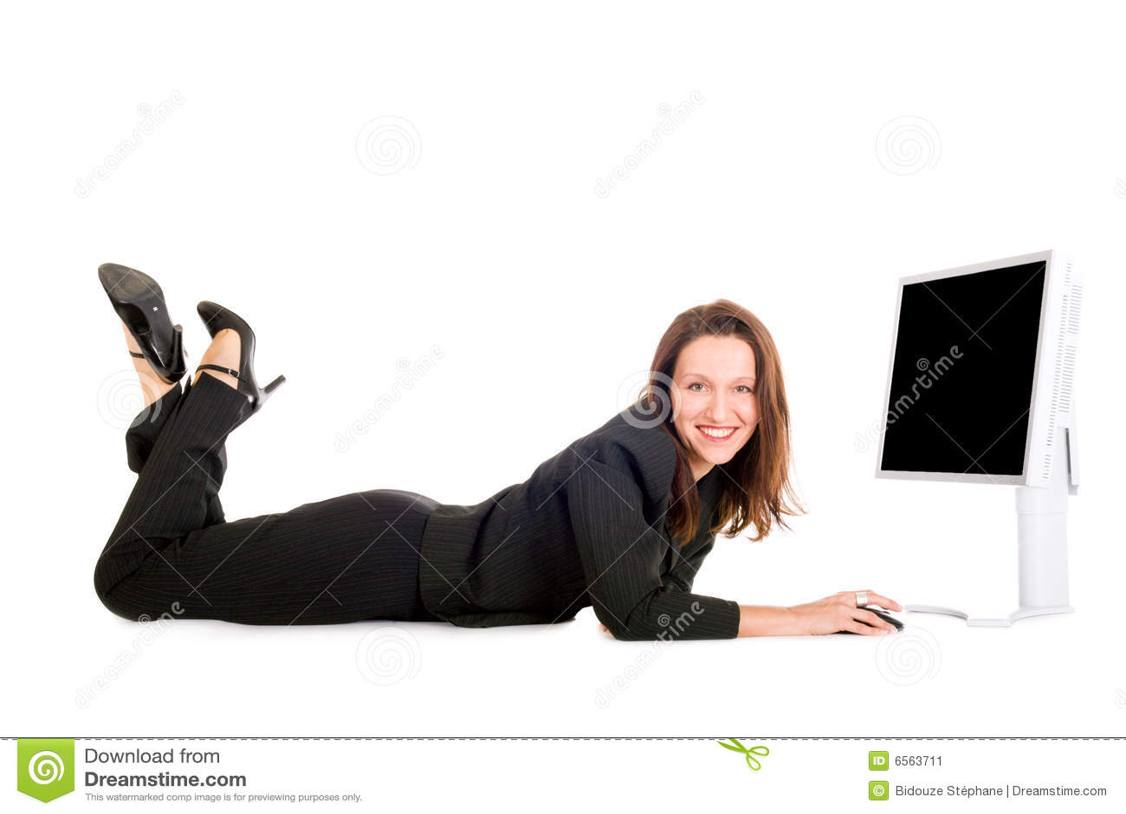 Bizneswomanu surfing
