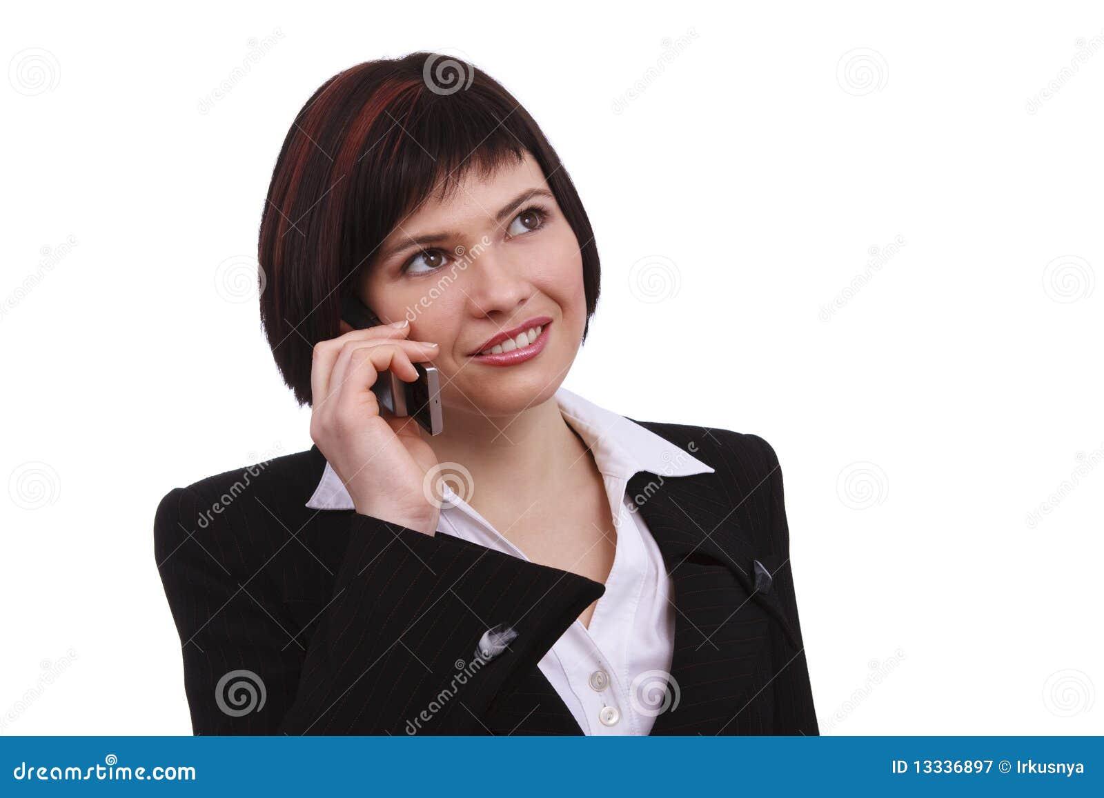 Bizneswomanu telefon komórkowy