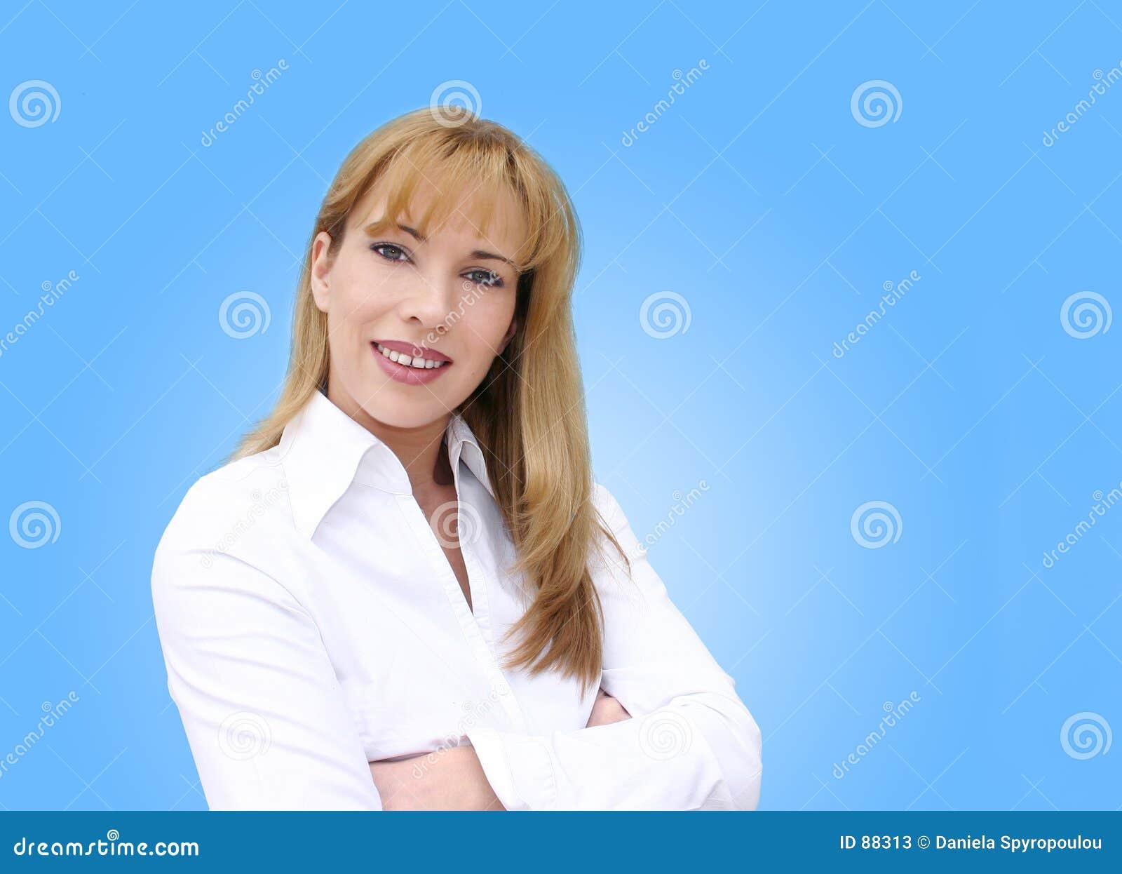 Download Bizneswomanu uśmiecha się obraz stock. Obraz złożonej z wspaniały - 88313