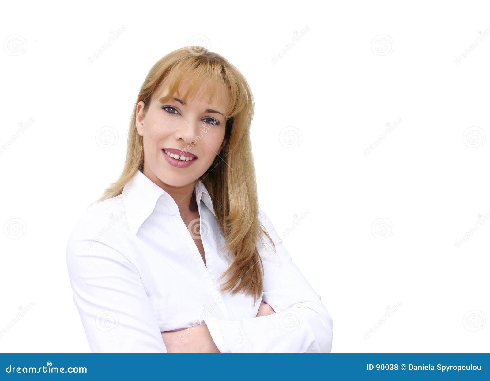 Download Bizneswomanu uśmiecha się zdjęcie stock. Obraz złożonej z officemates - 90038