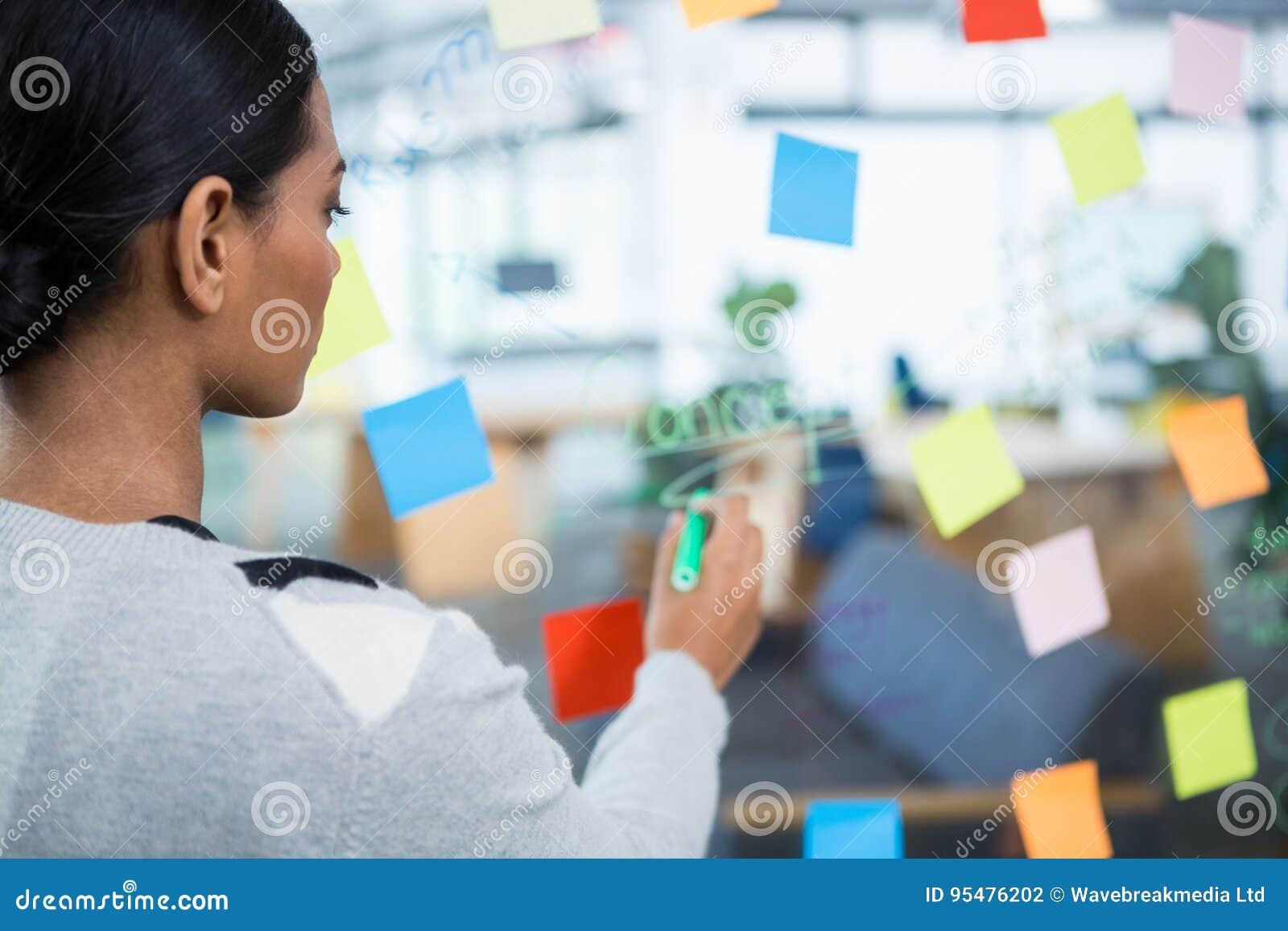 Bizneswomanu writing na szkle