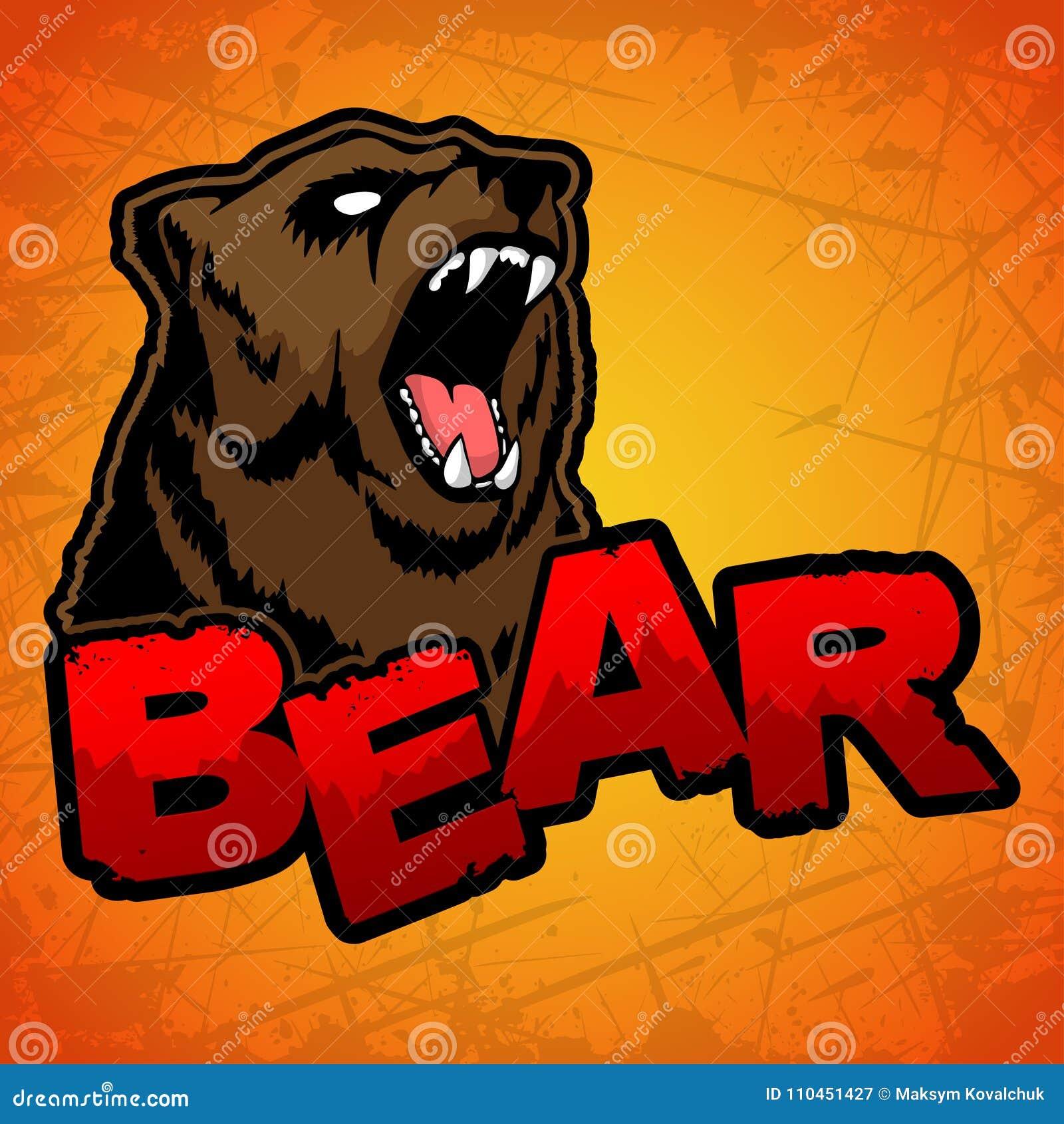 Björnlogo på en gul bakgrund
