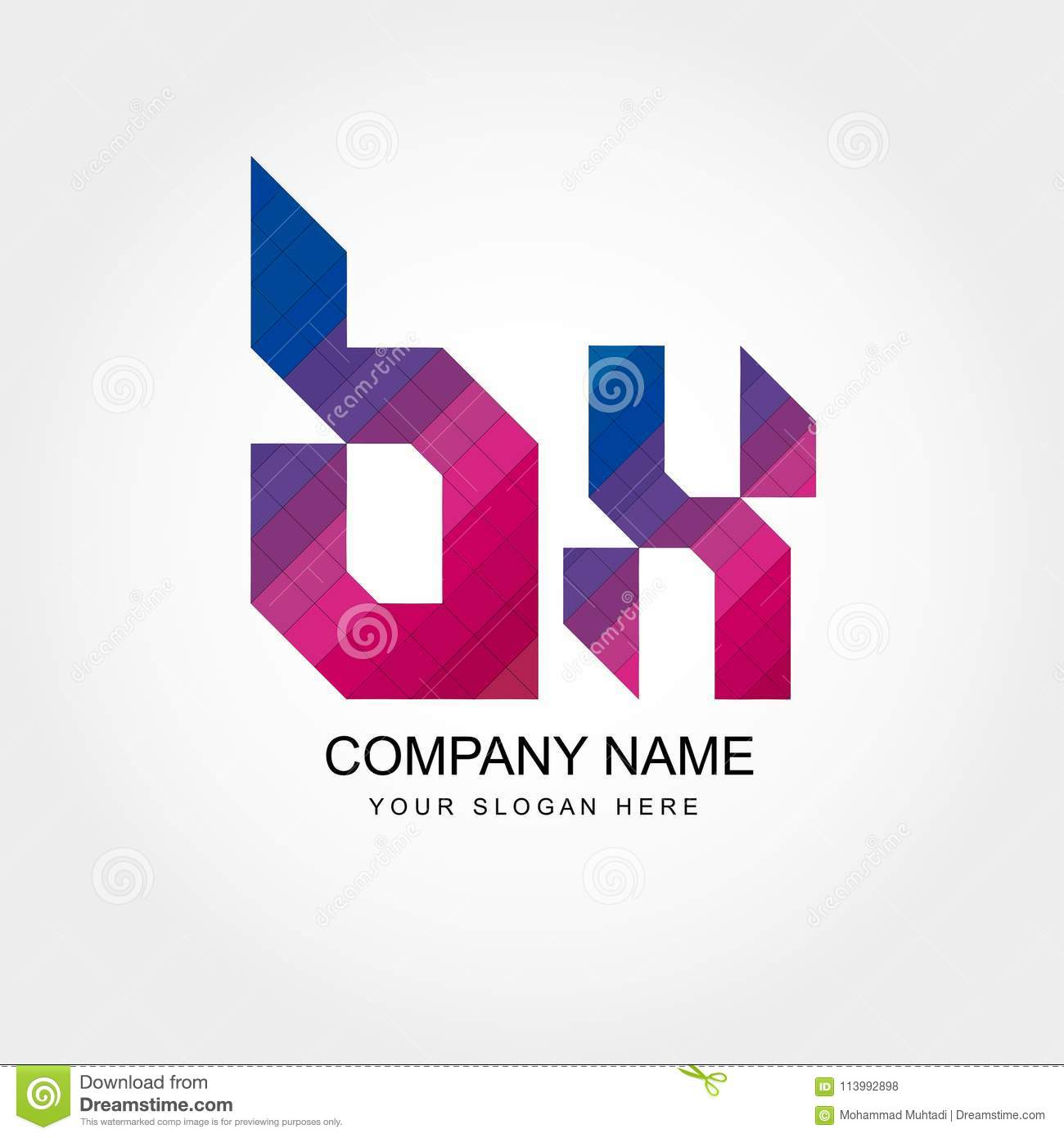 Bk Letter Logo Design Stock Vector Illustration Of
