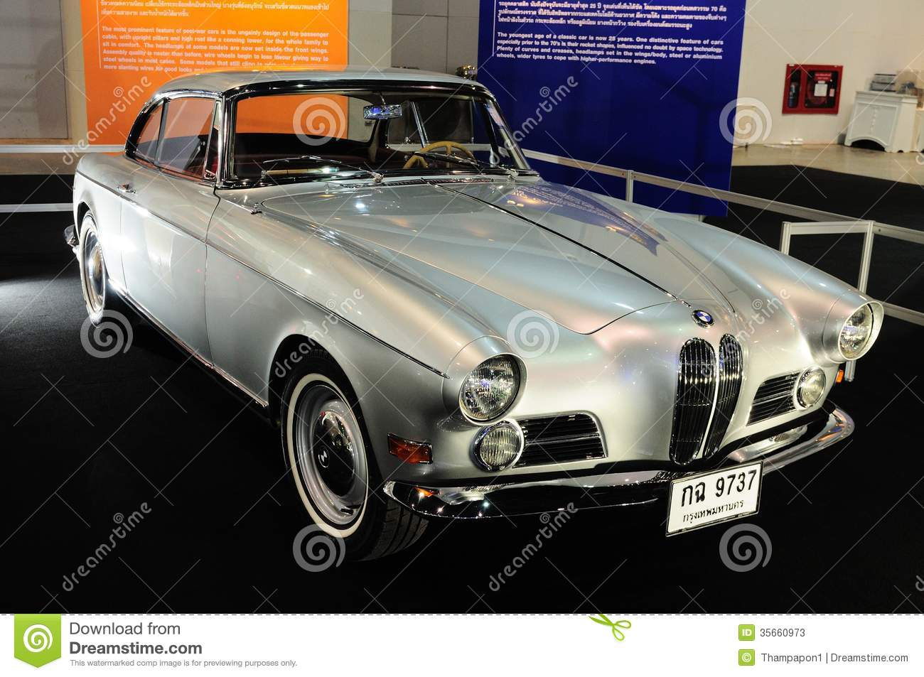 Bkk Nov 28 Bmw 503 Coupe Classic 2 Door Convertible Car On D