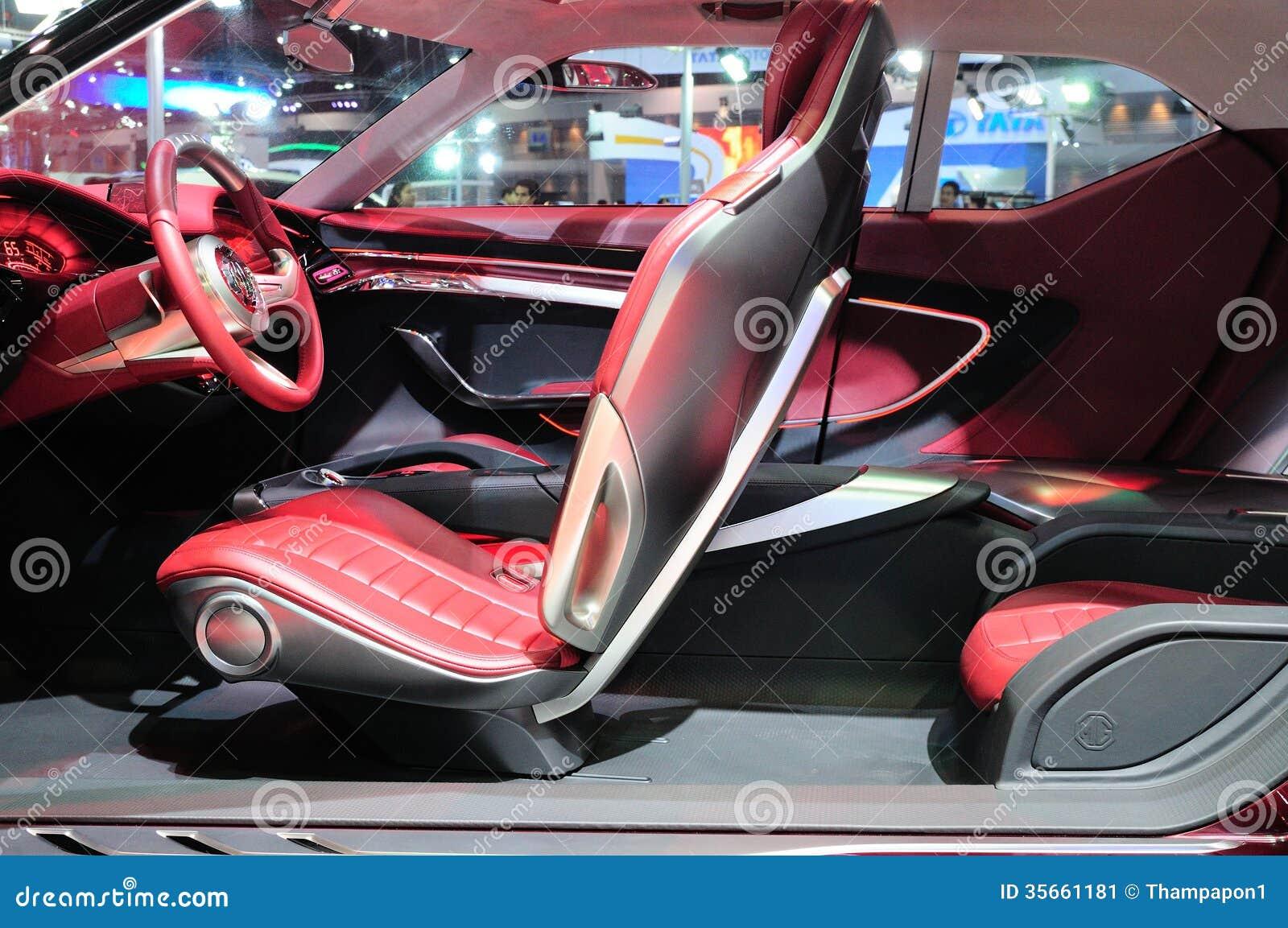 bkk nov 28 interior design of mg icon suv concept car on di editorial photo image 35661181. Black Bedroom Furniture Sets. Home Design Ideas