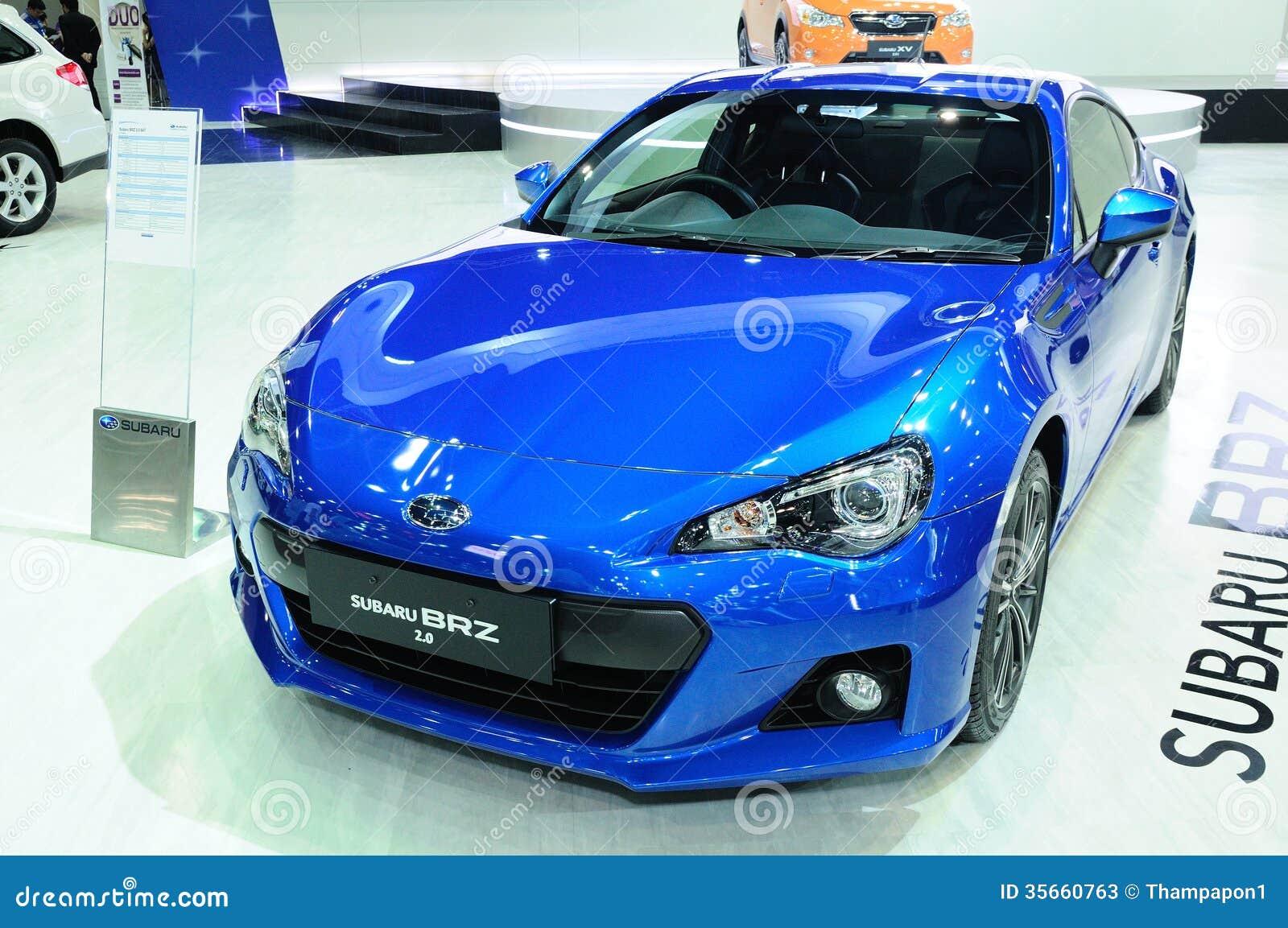 Bkk Nov 28 Subaru Brz 2 0i Supercar Or Sport Car On Display