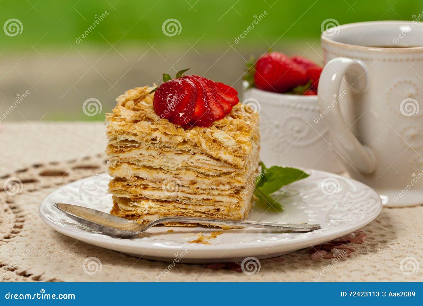 Blatterteig Napoleon Cake Stockbild Bild Von Vanillepudding 72423113