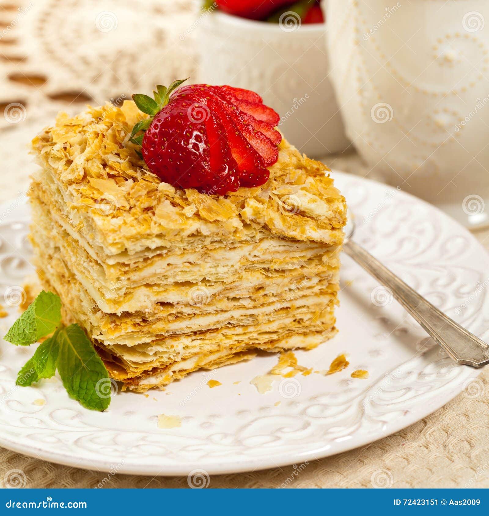Blatterteig Napoleon Cake Stockbild Bild Von Blatter 72423151