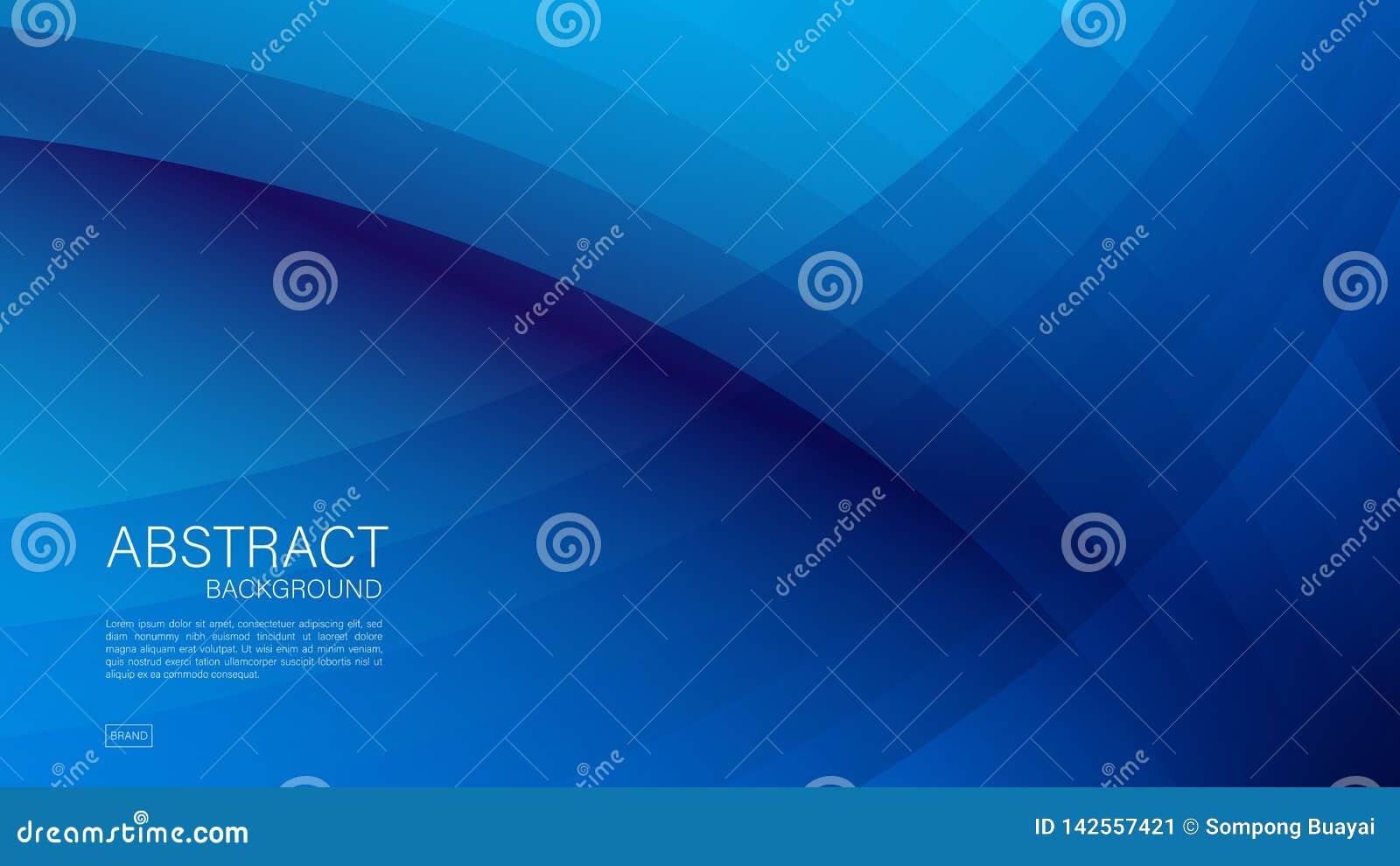 Blå abstrakt bakgrund, våg, geometrisk vektor, grafisk minsta textur, räkningsdesign, reklambladmall, baner, webbsida