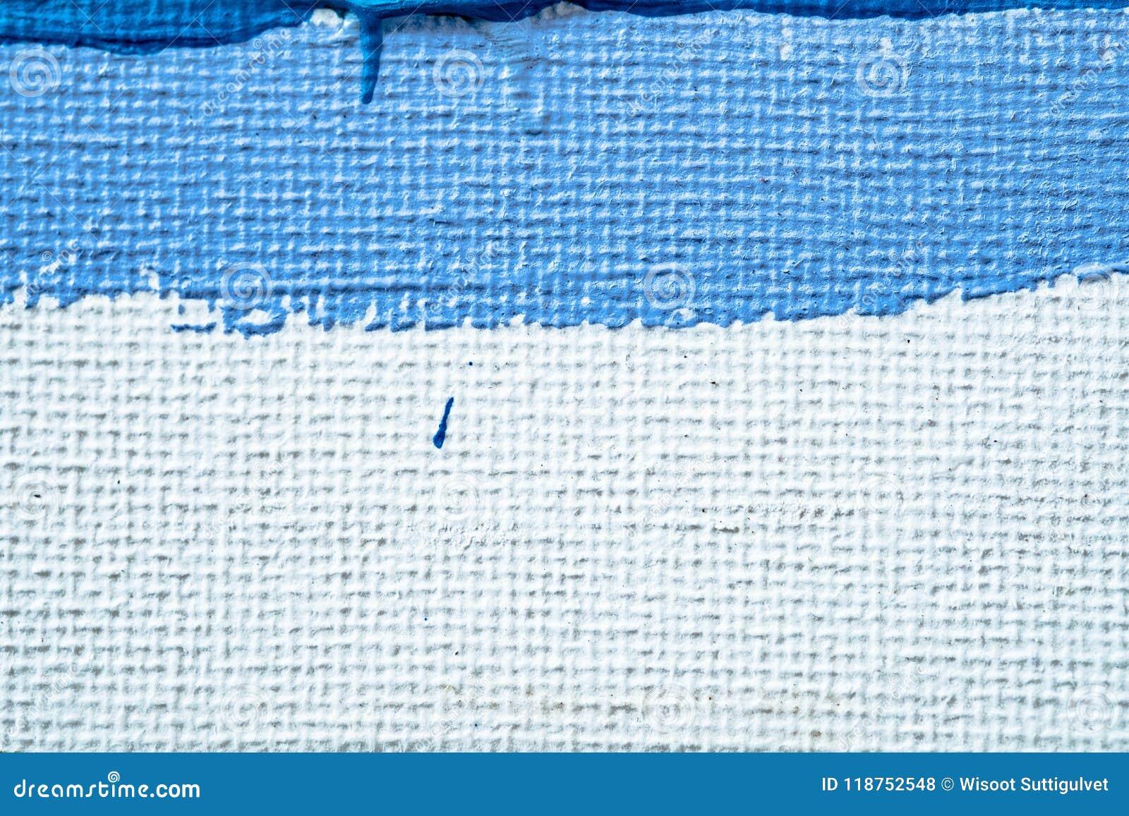 Blå abstrakt hand målad kanfasbakgrund, textur Färgrik texturerad bakgrund