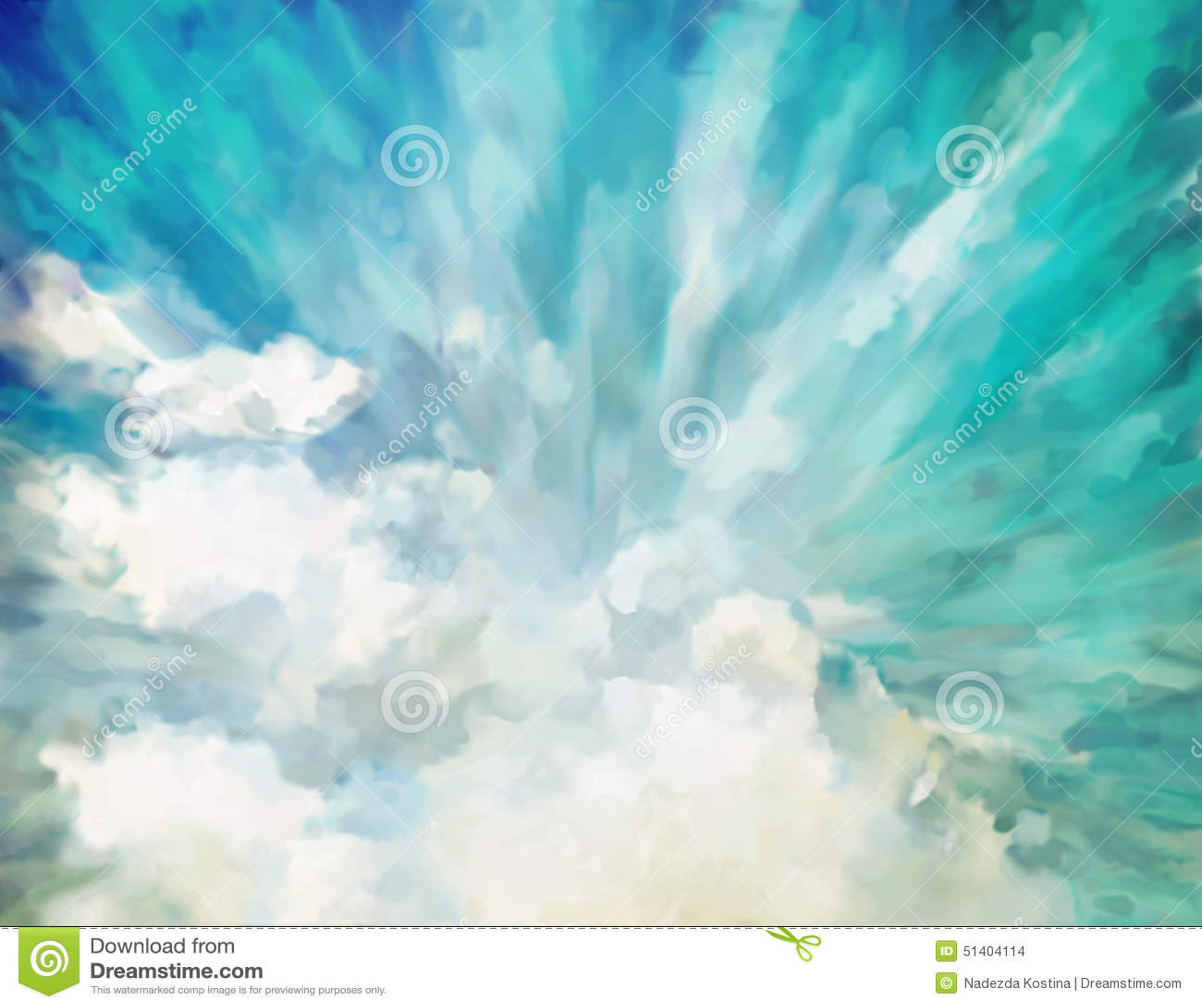 Blå abstrakt konstnärlig bakgrund