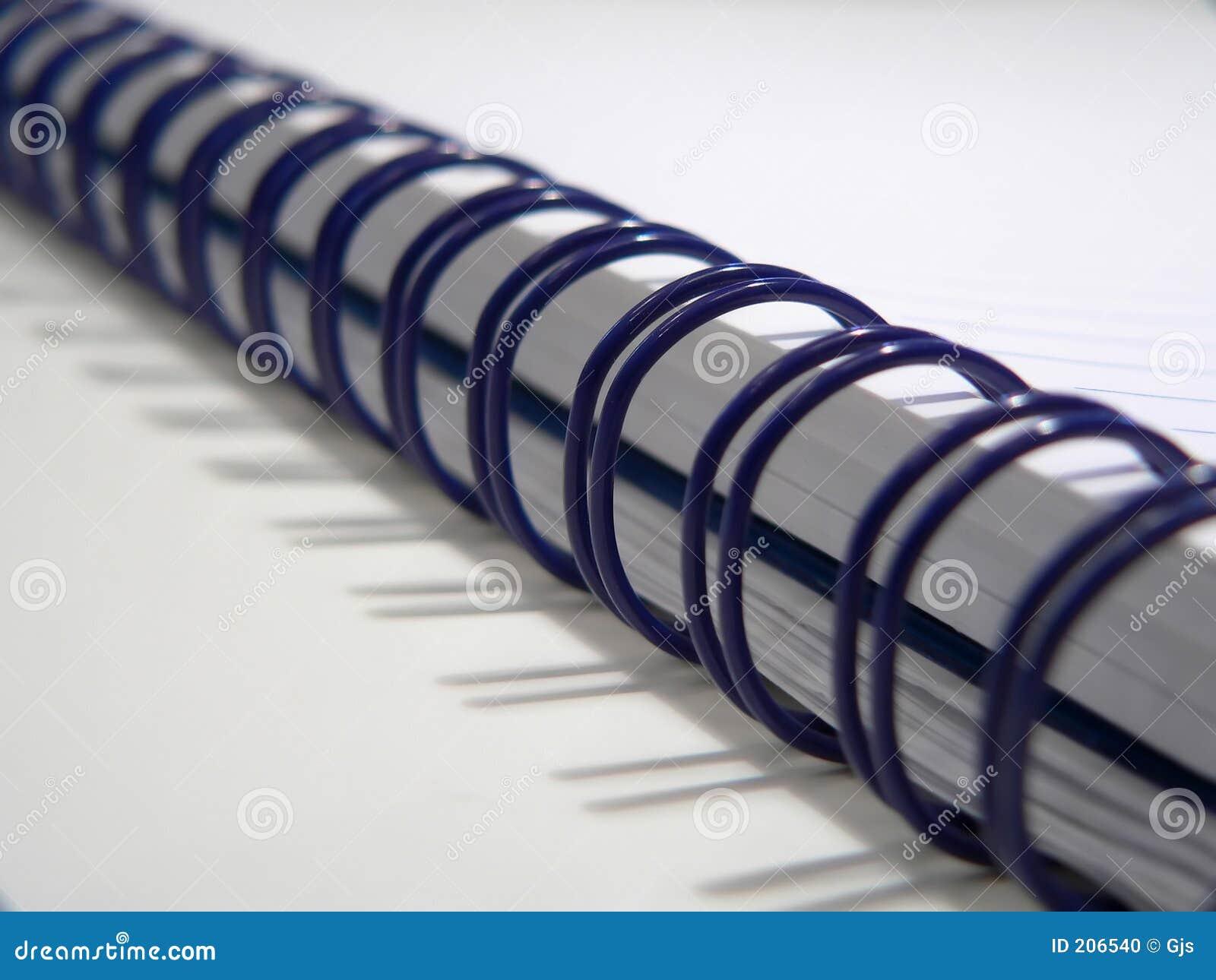 Blå anteckningsbokspiral