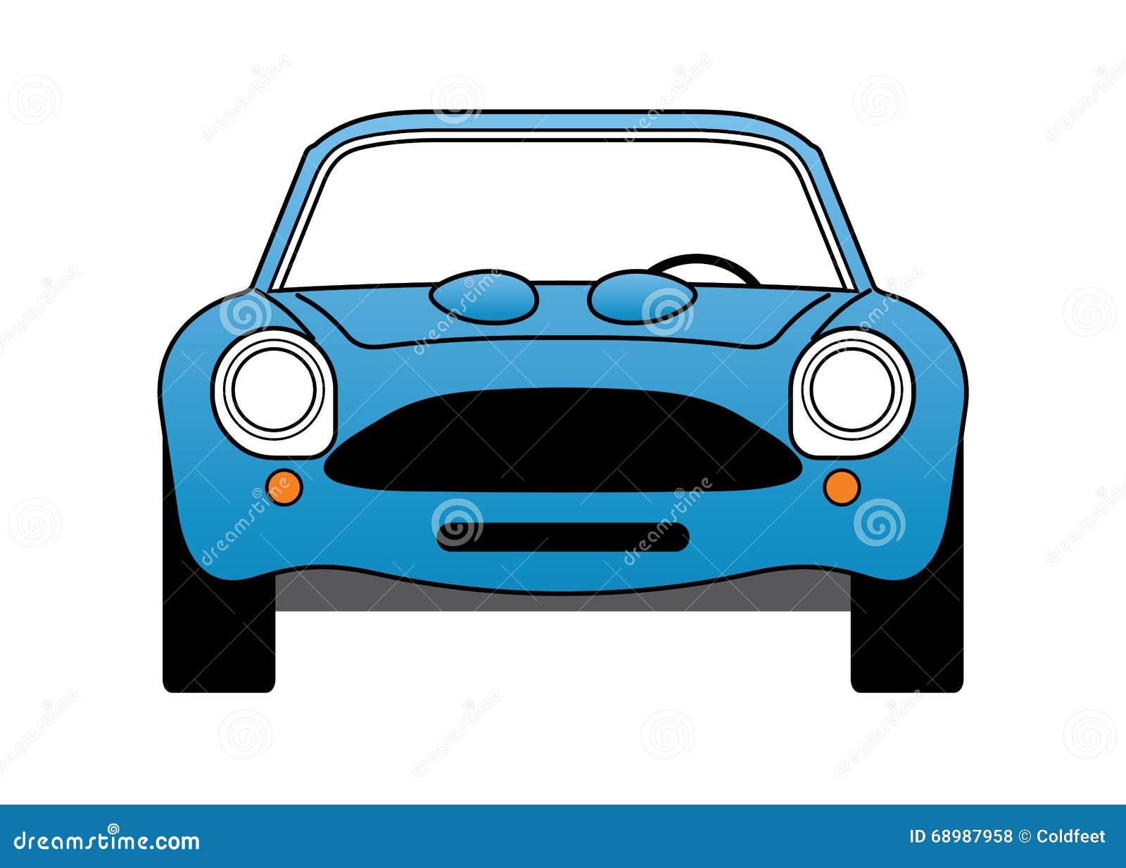 Blå bil