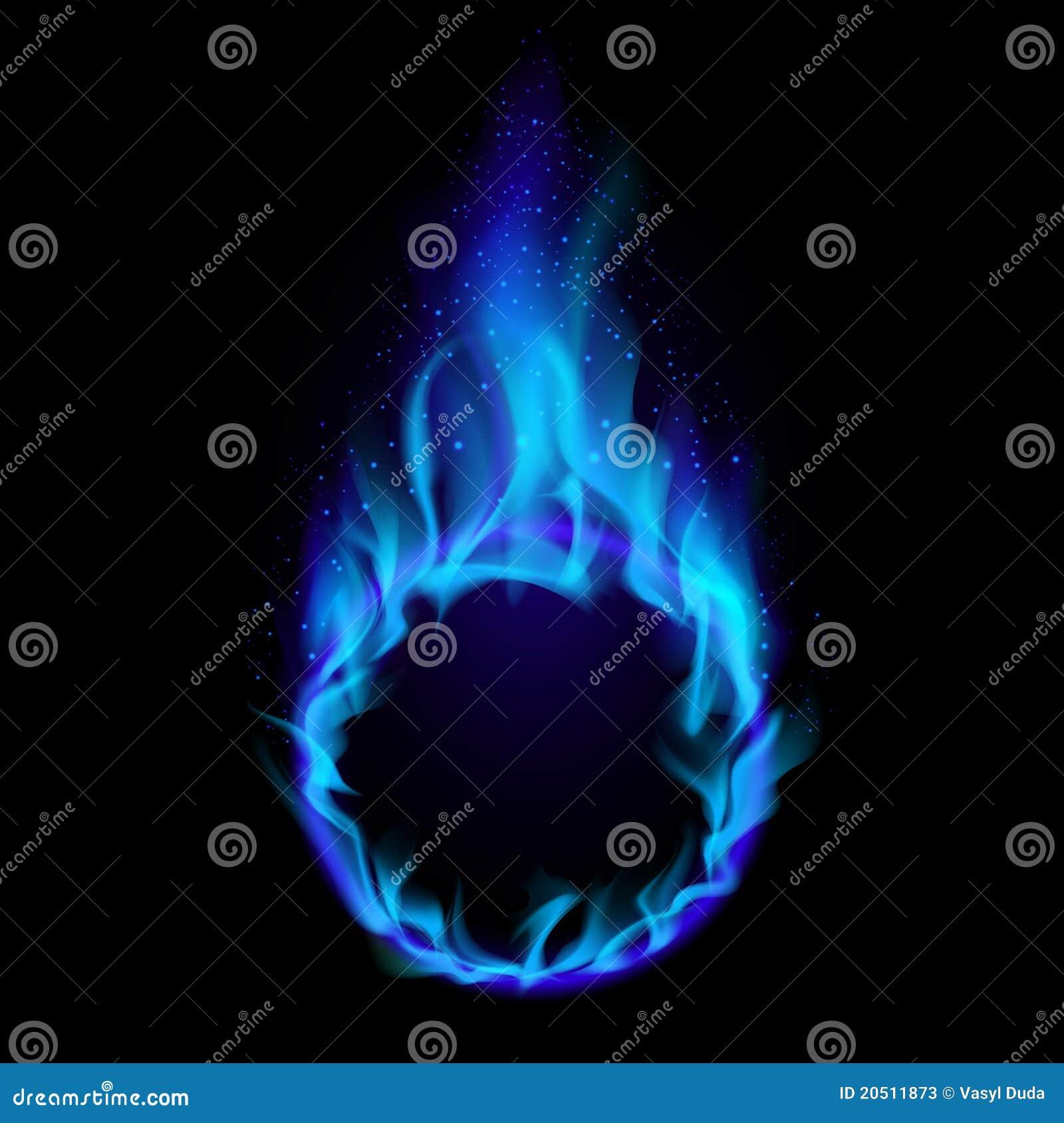 Blå brandcirkel