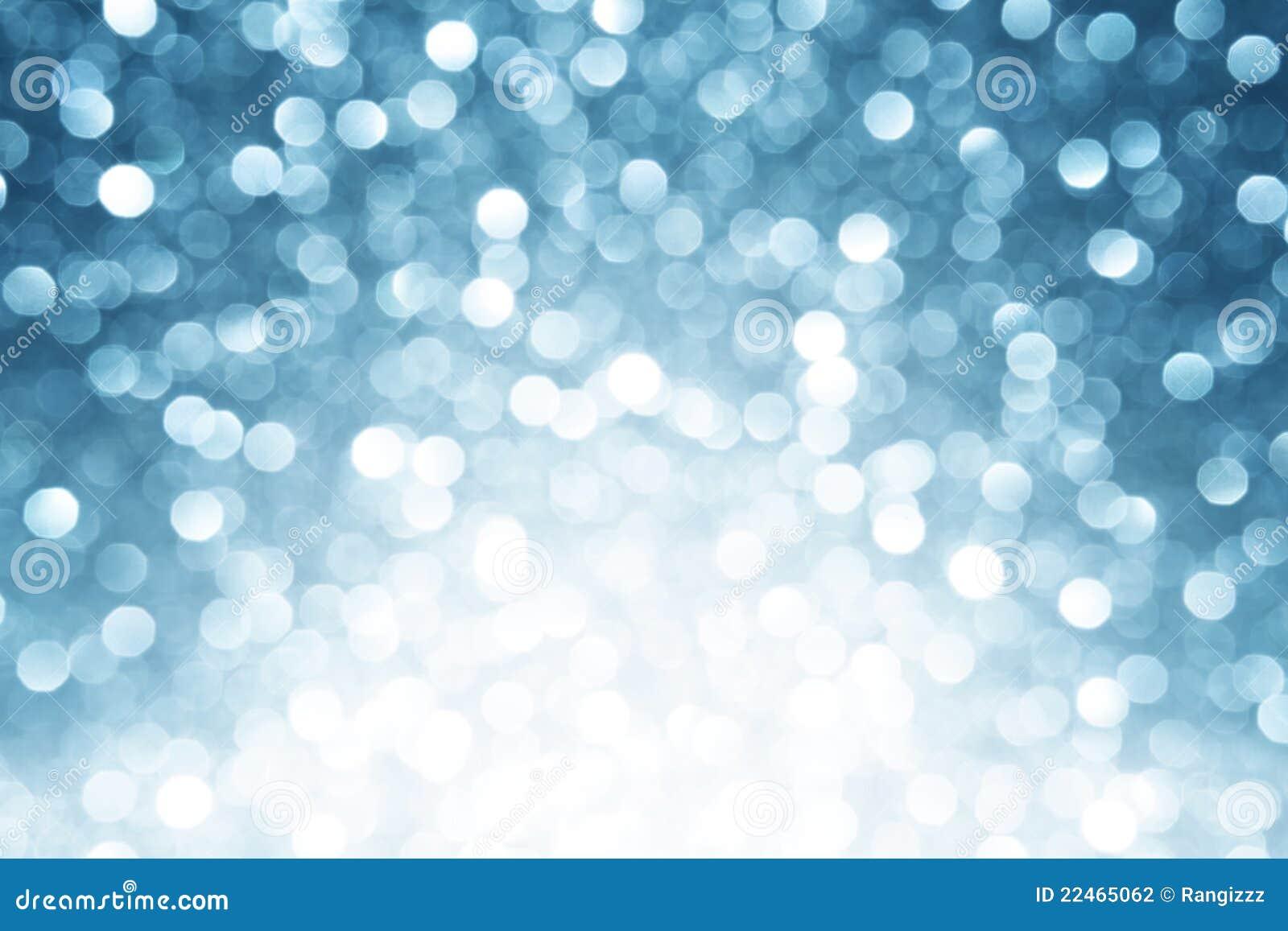 Blå defocused lampabakgrund