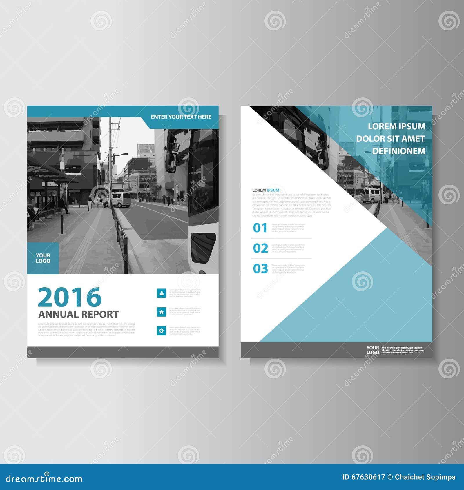 Blå design för mall för reklamblad för broschyr för broschyr för vektortidskriftårsrapport, bokomslagorienteringsdesign