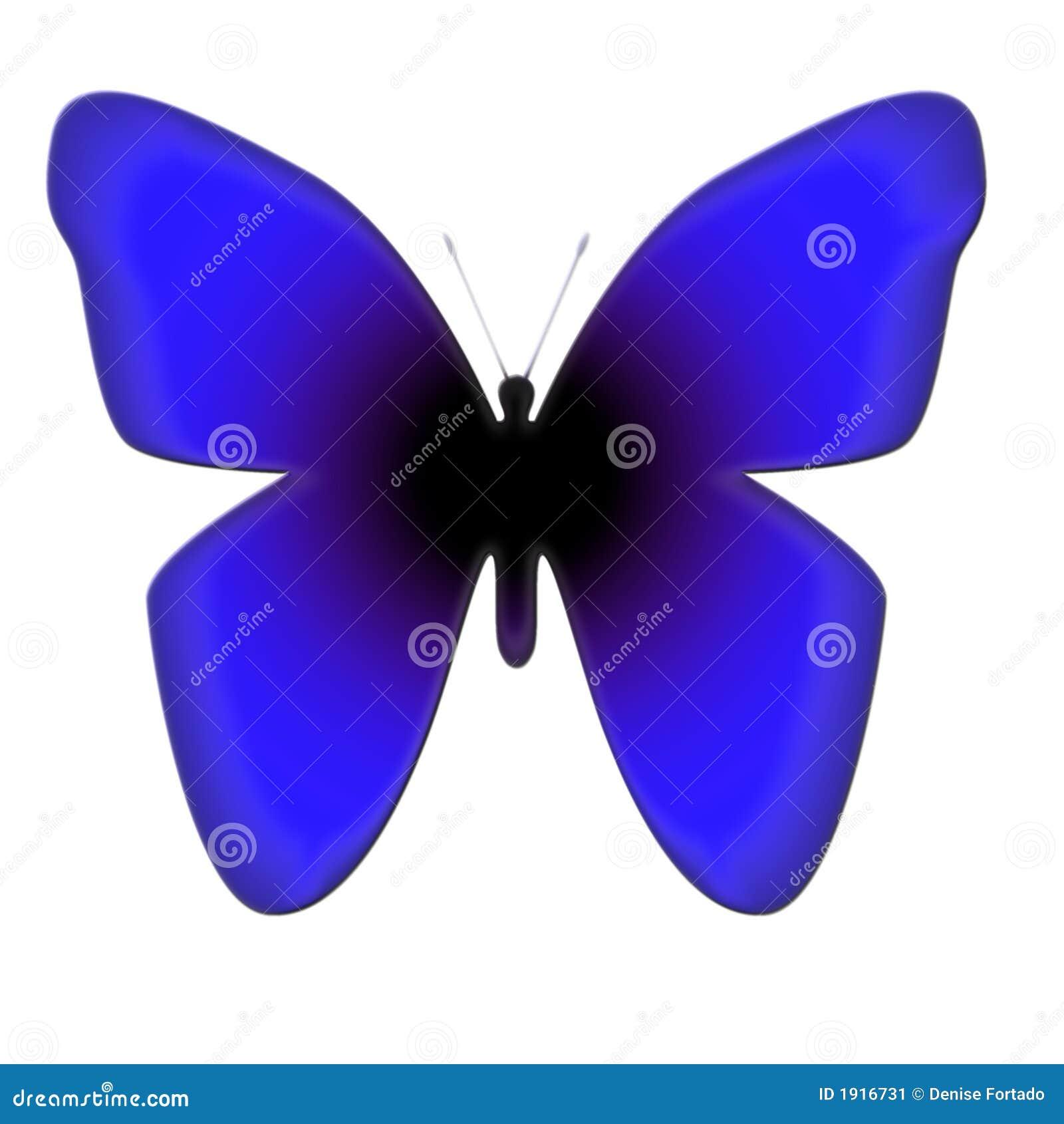 Blå fjäril