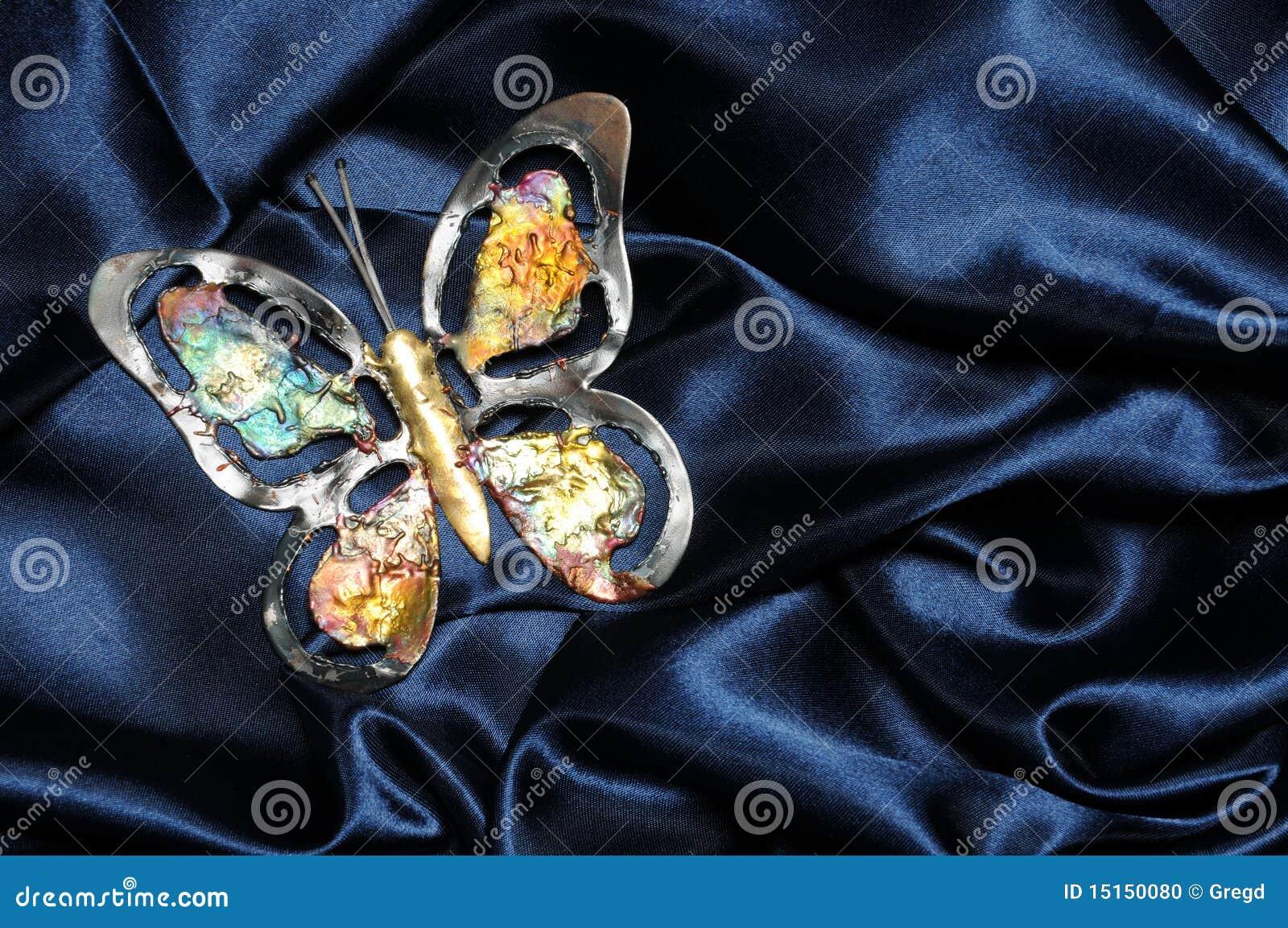 Blå fjärilssatäng