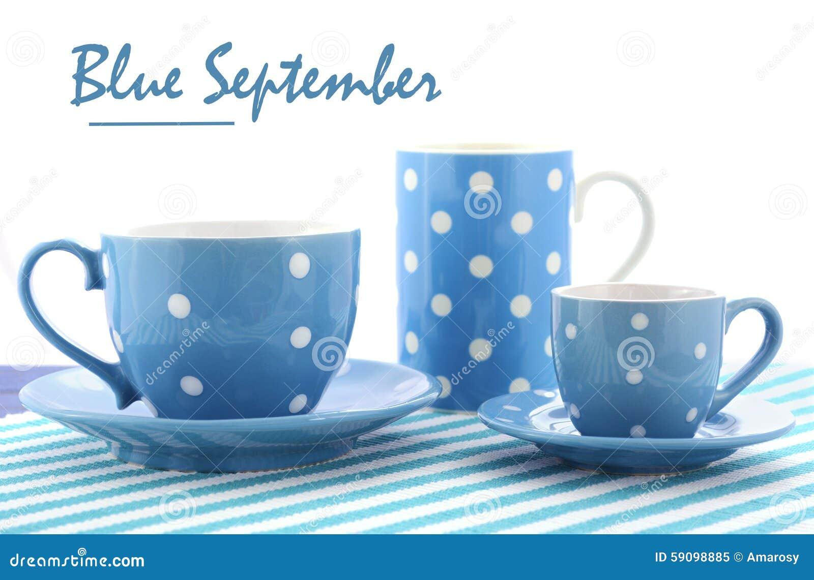 Blå Fundraiser för September välgörenhethändelse