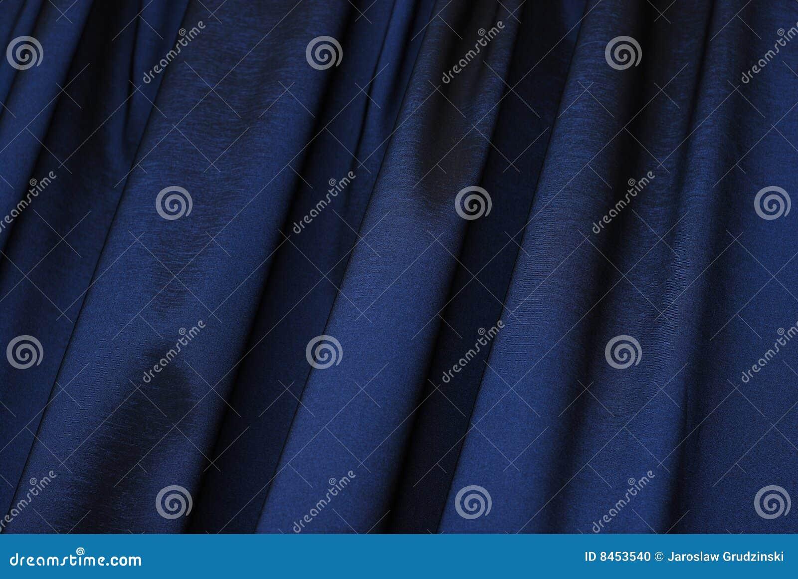 Blå gardin för bakgrund