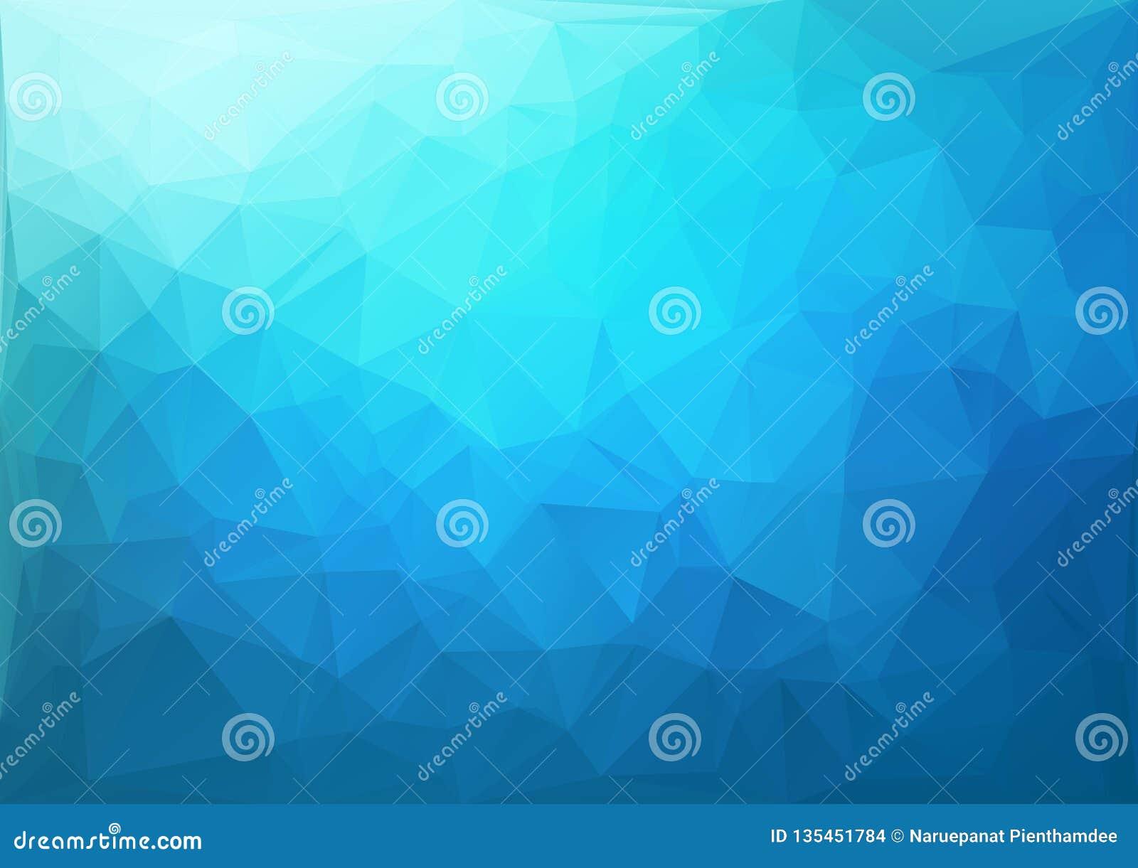 Blå geometrisk modell