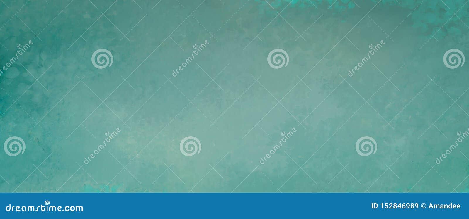 Blå grön bakgrund med fläckig gammal grunge och bekymrad tappningtexturdesign i abstrakt tom banerdesign
