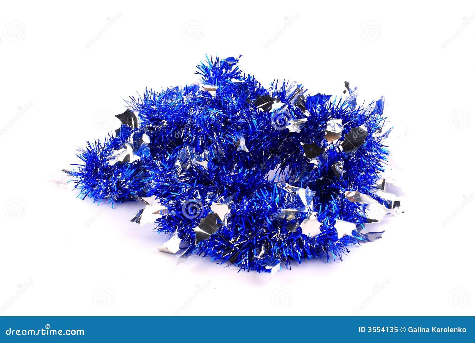 Blå gruppgirlandsilver