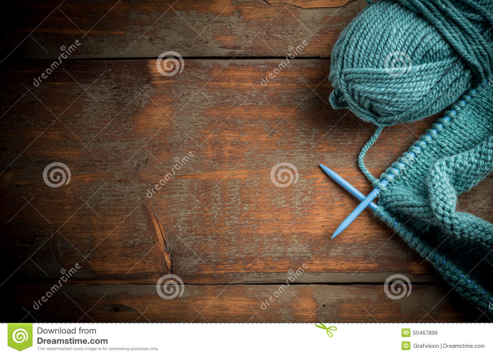 Blå handarbeteull