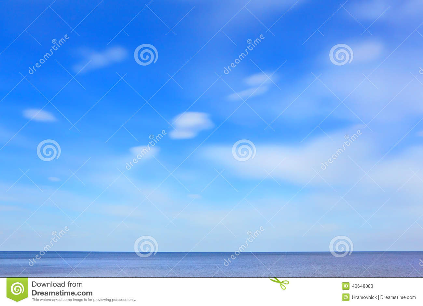 Blå havssky