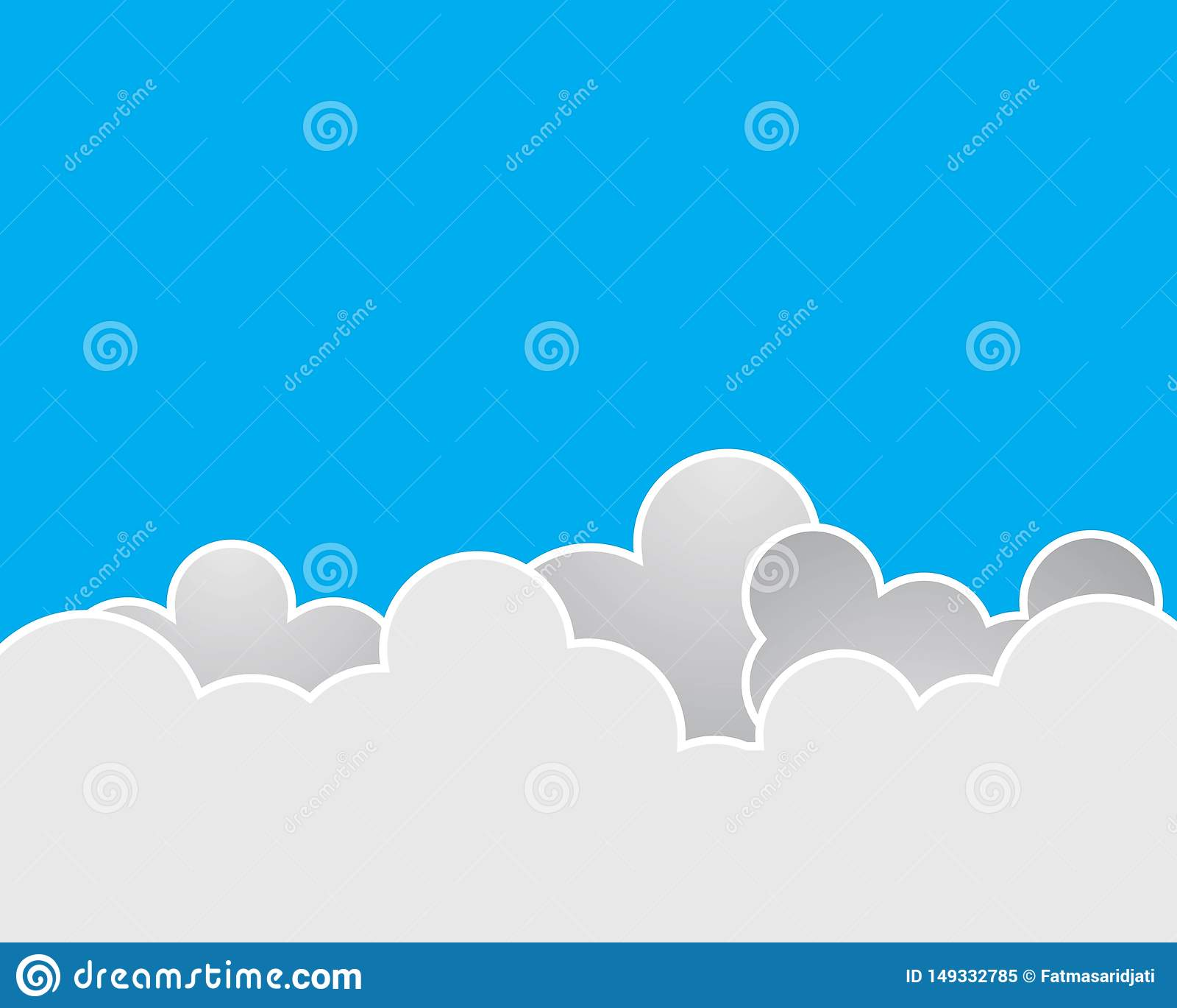 Bl? himmel med molnvektorsymbolen