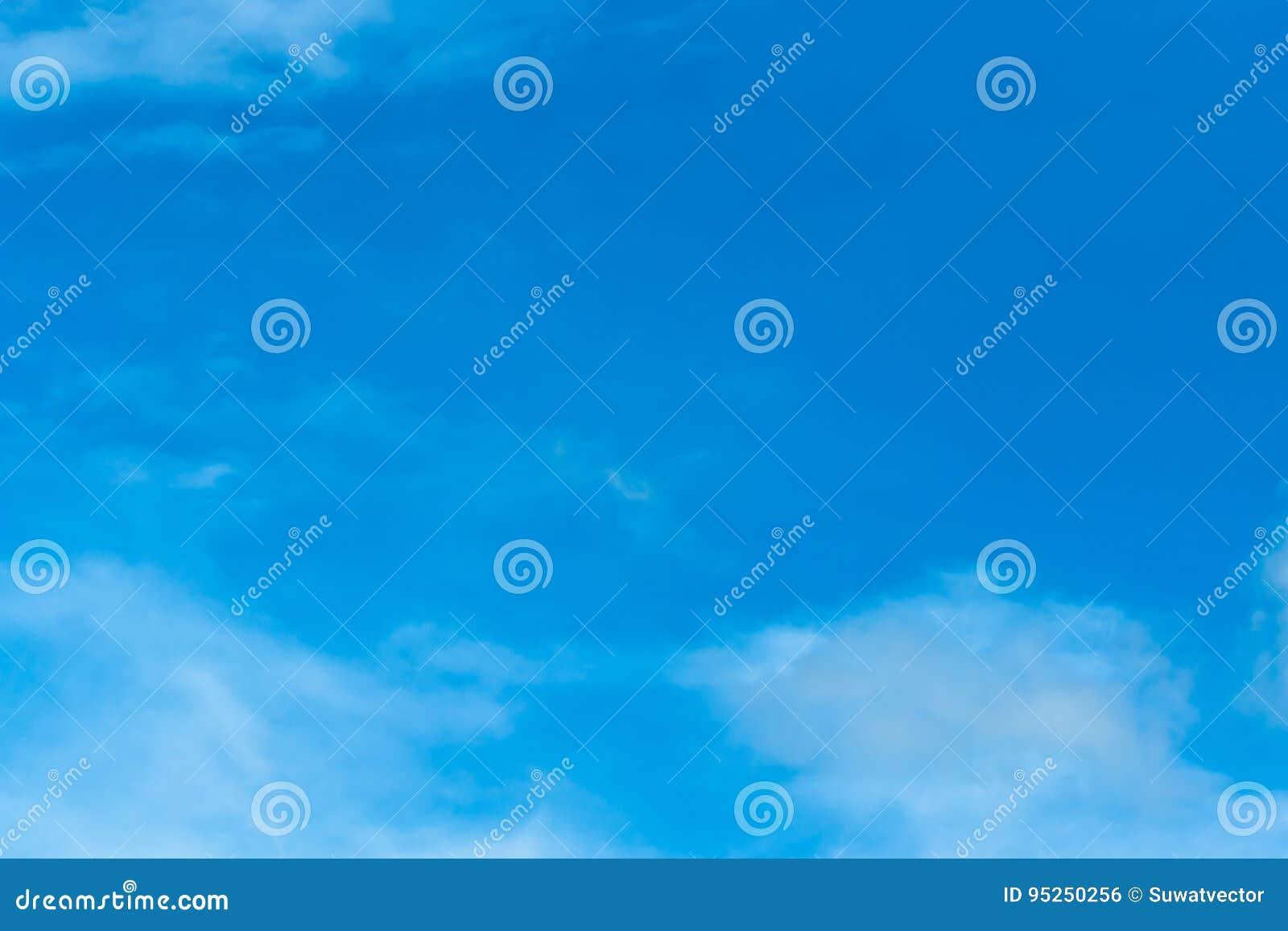 Blå himmel och molnigt