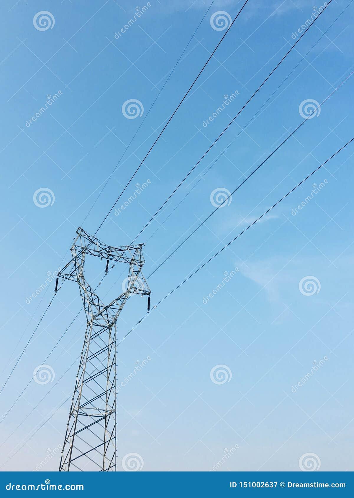 Blå himmel och pol, telefonväggpapper