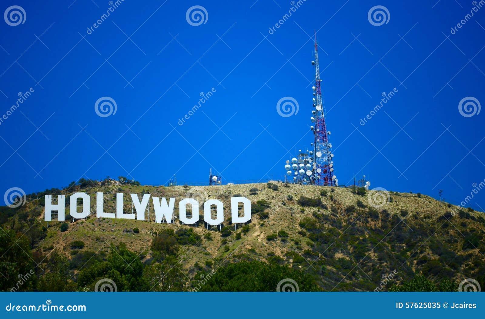 Blå hollywood teckensky
