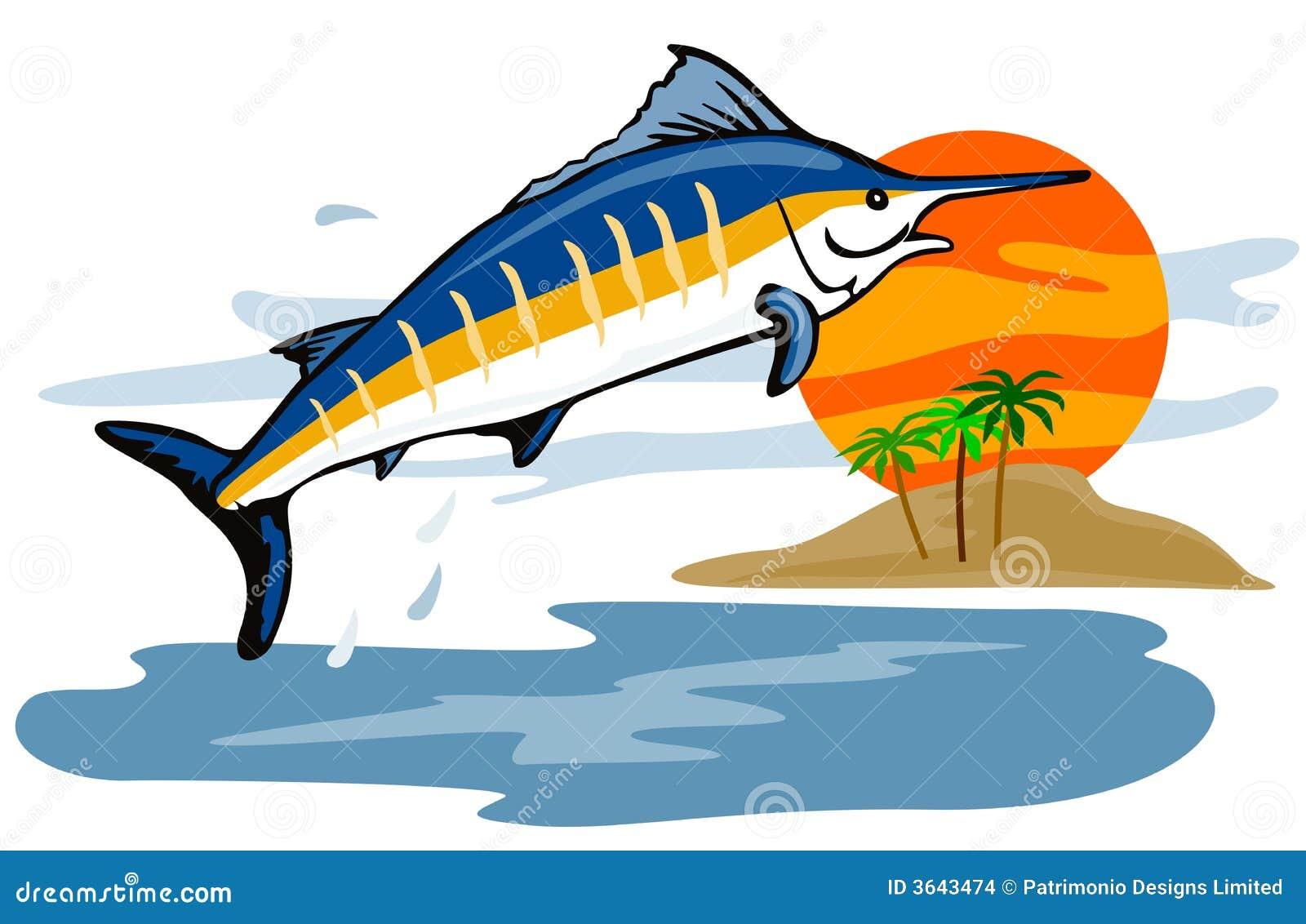 Blå hoppa marlin