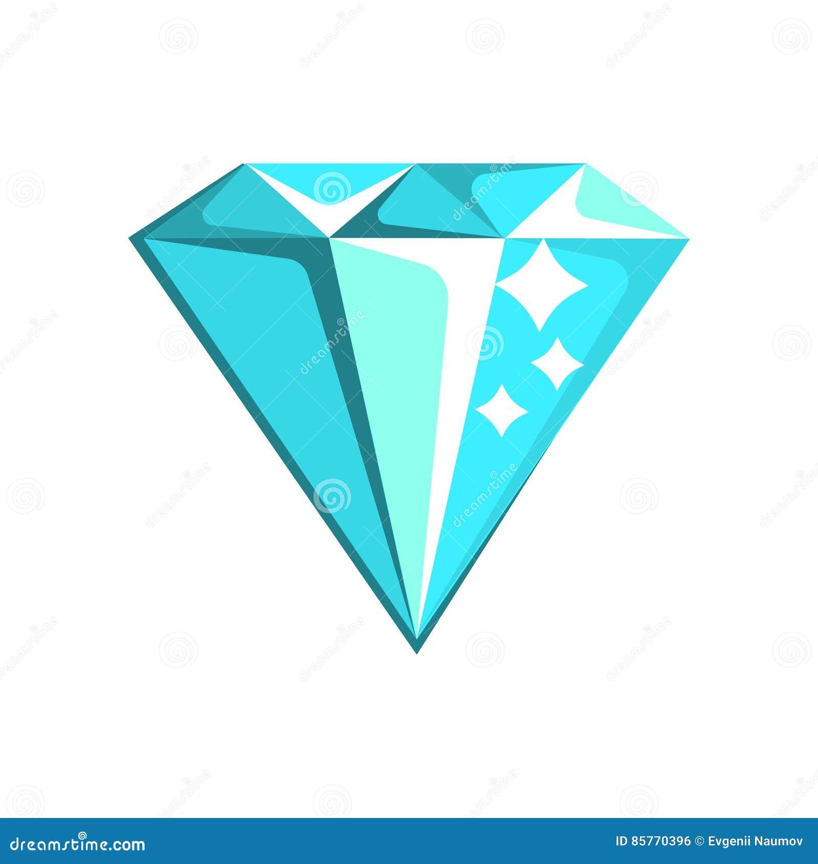 Blå illustration för tecknad film för Diamond Element From Slot Machine, dobbleri- och kasinonattklubb släkt