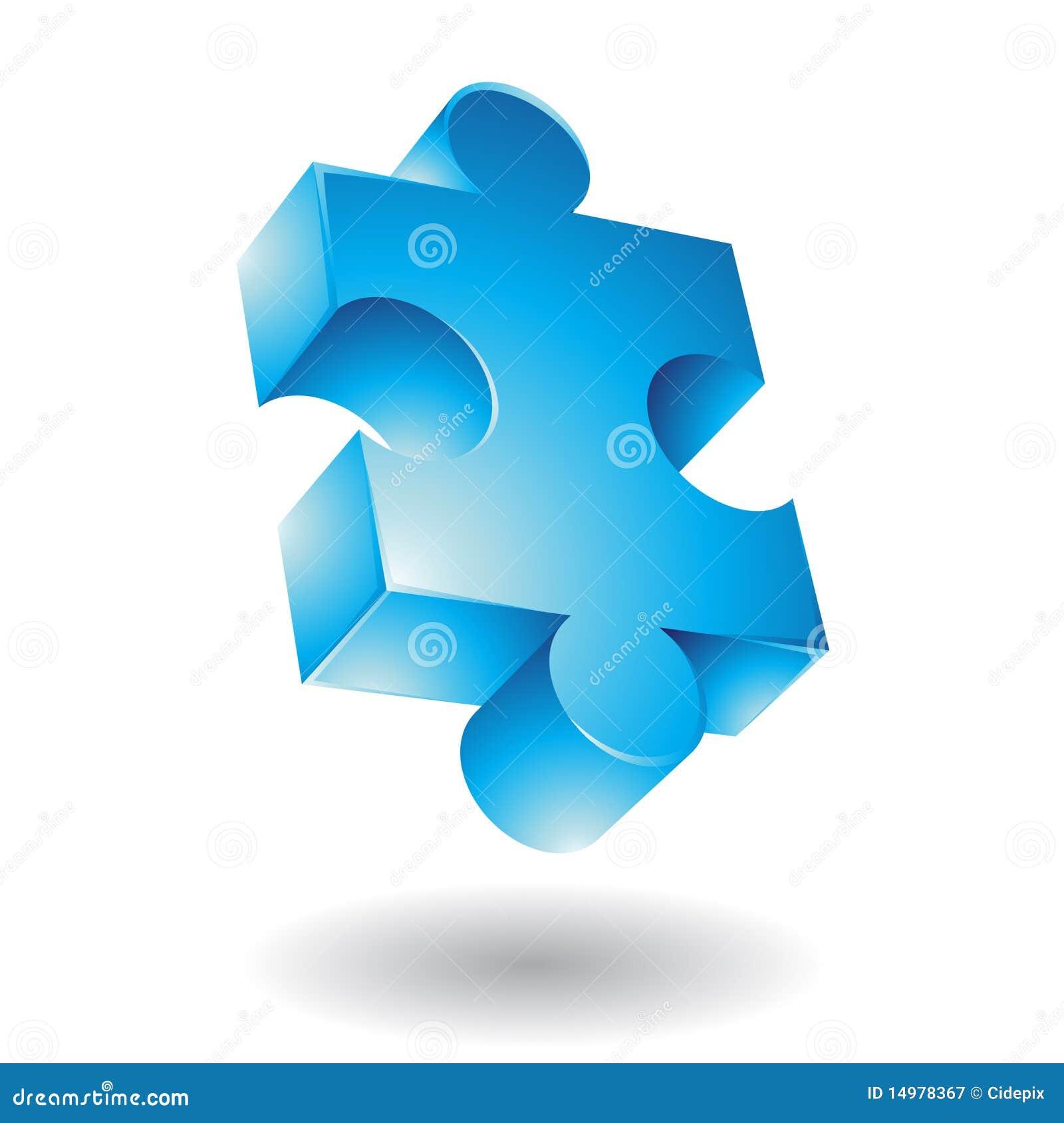 Blå jigsaw